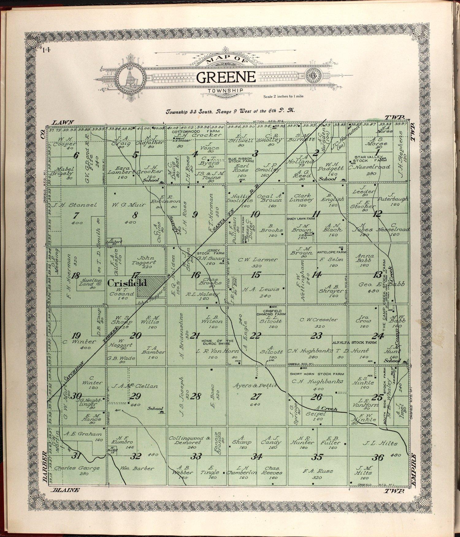 Standard atlas of Harper County, Kansas - 14