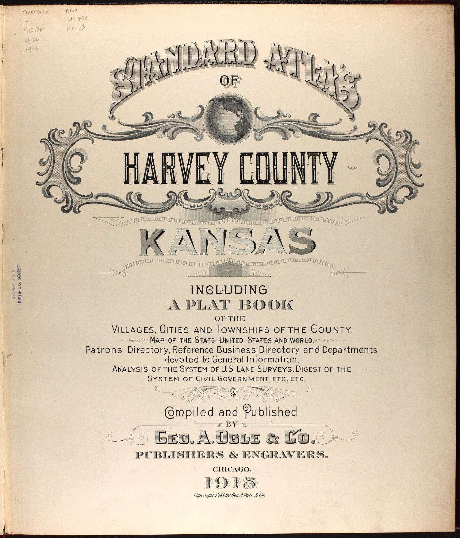 Standard atlas of Harvey County, Kansas - Title Page