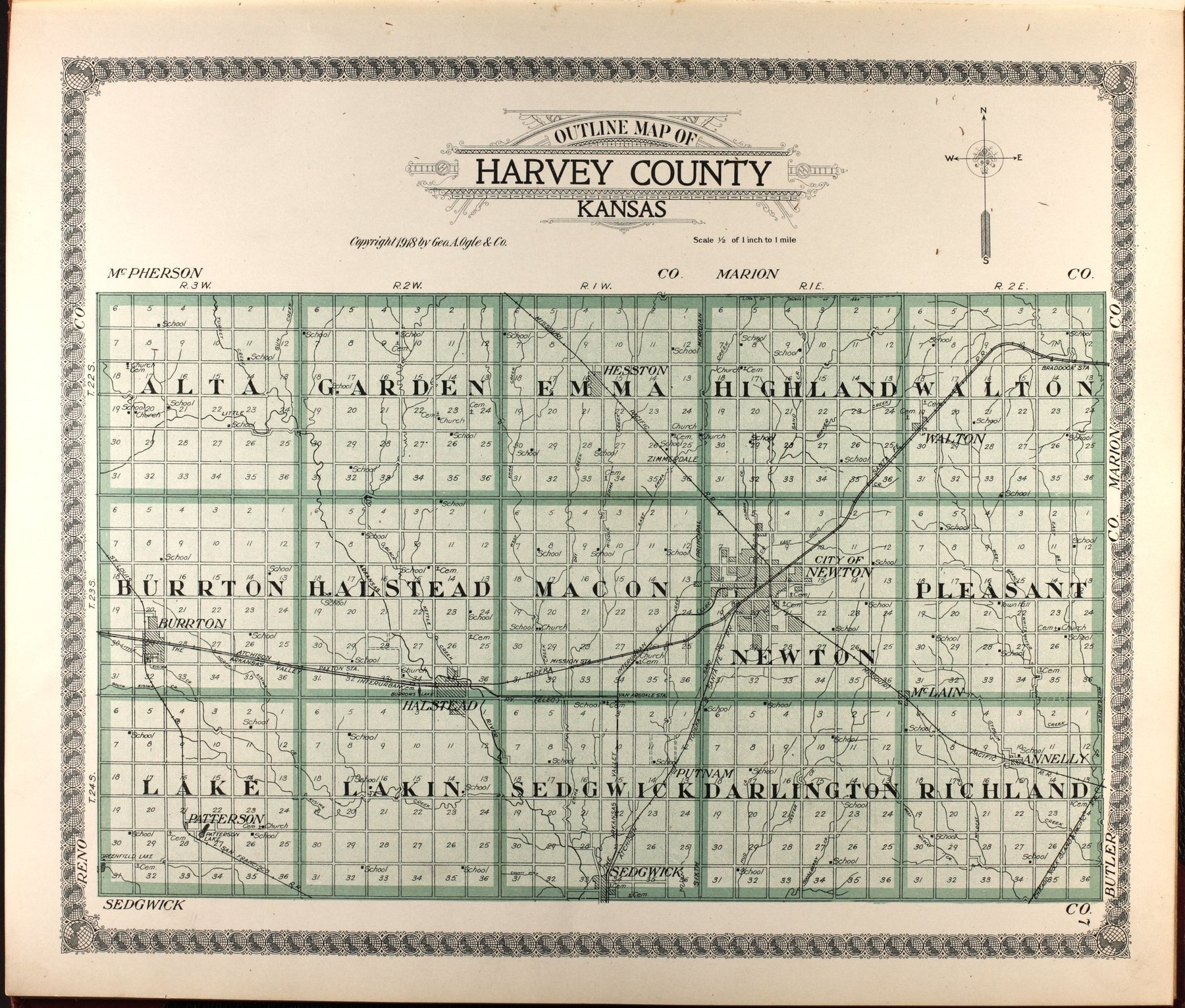 Standard atlas of Harvey County, Kansas - 7