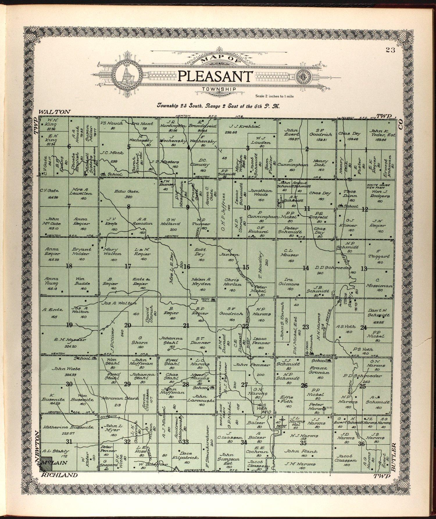 Standard atlas of Harvey County, Kansas - 23