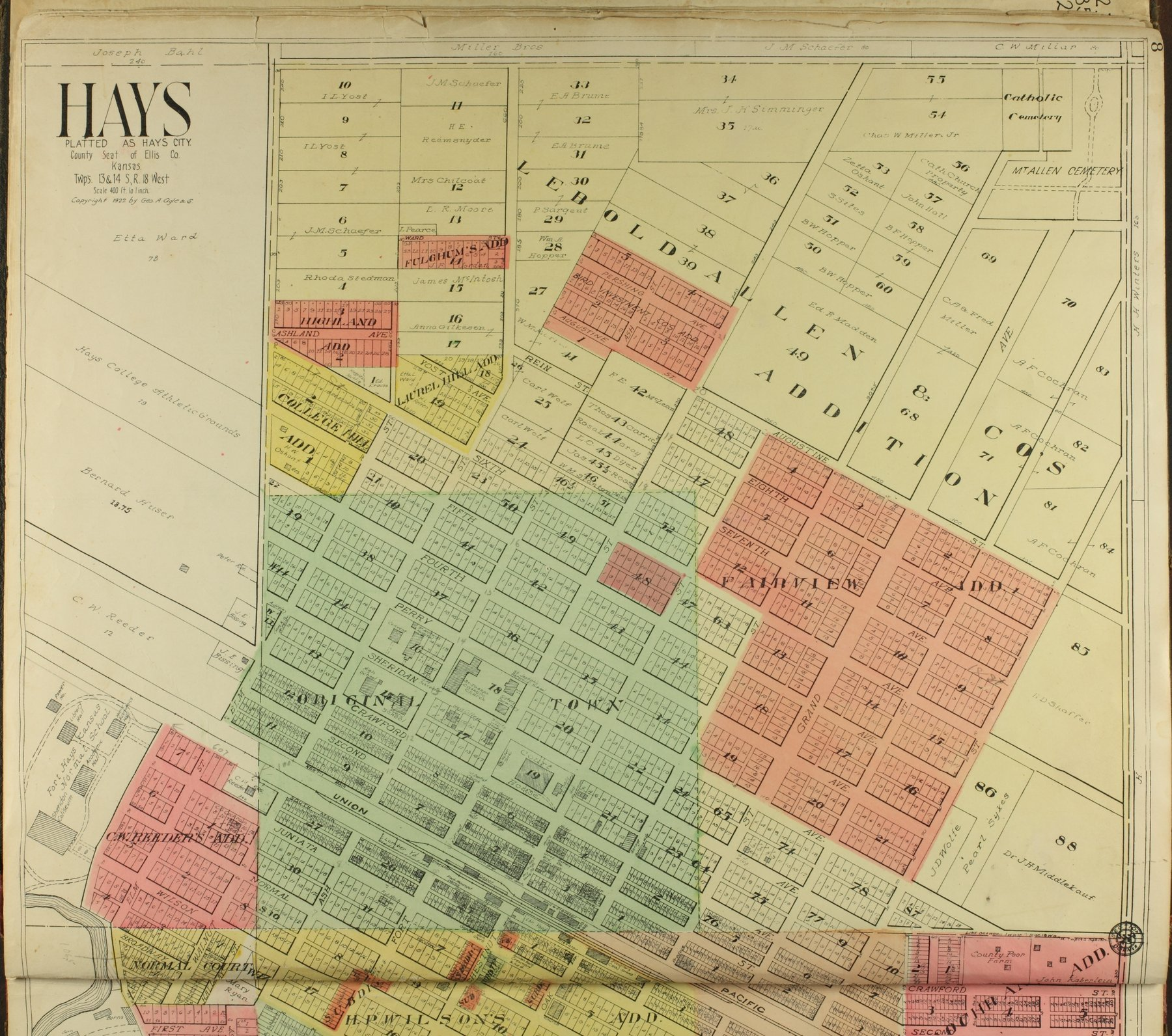 Standard atlas of Ellis County, Kansas - 8