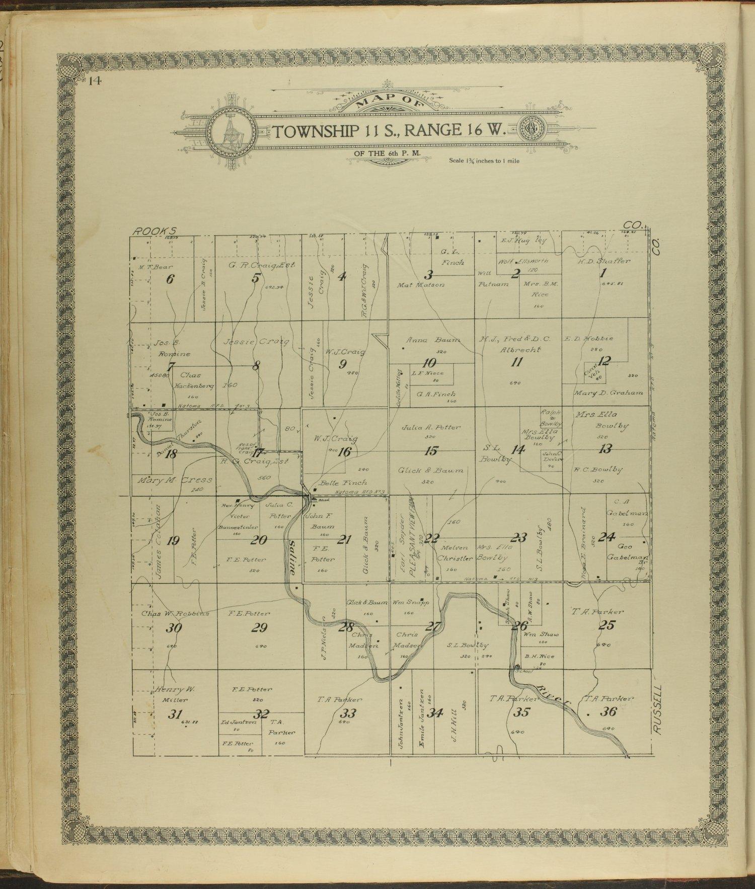 Standard atlas of Ellis County, Kansas - 14