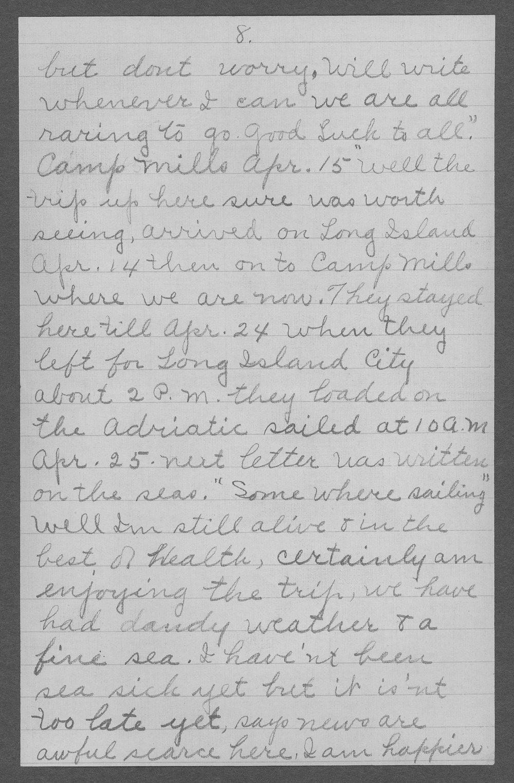 George R. Schertz, World War I soldier - 9