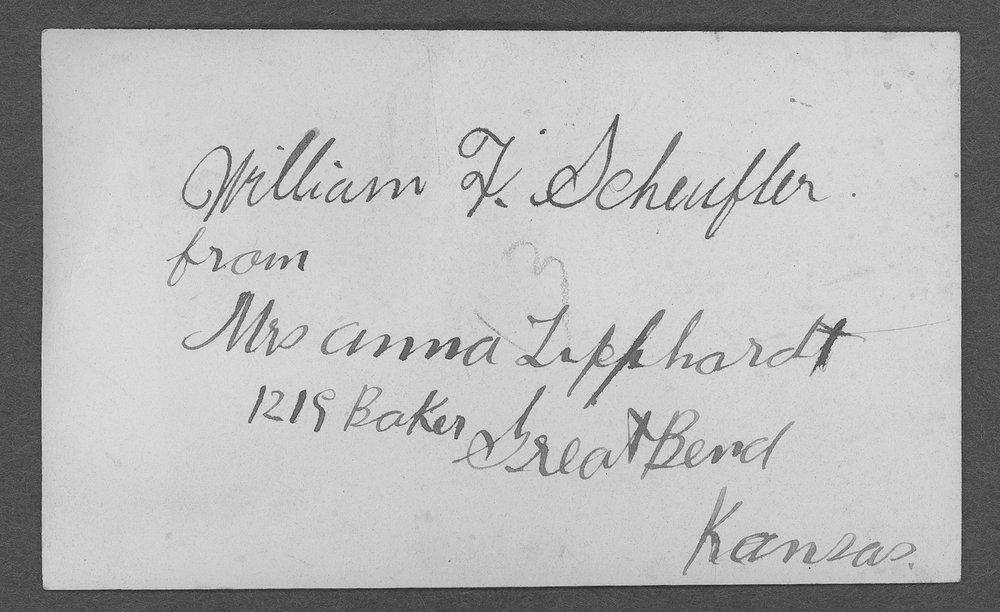 William F. Scheufler, World War I soldier - 2