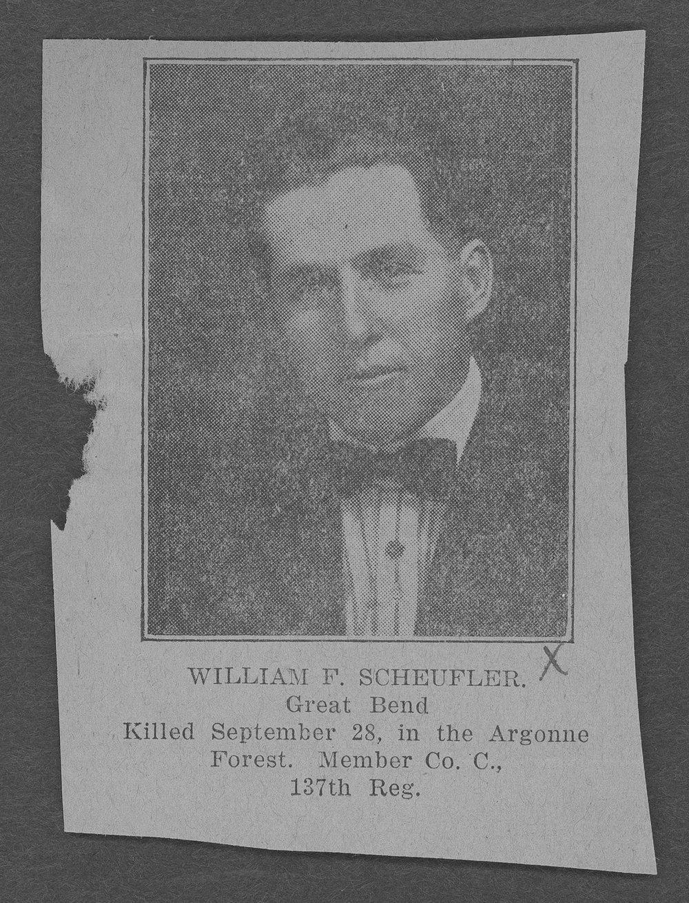 William F. Scheufler, World War I soldier - 3