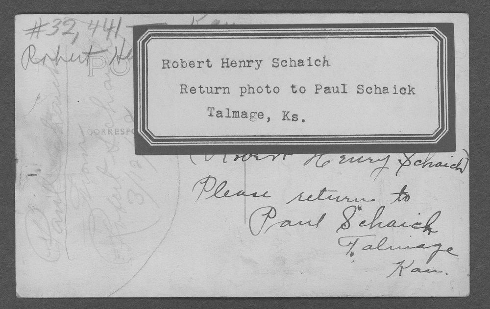 Robert Henry Schaich, World War I soldier - 4