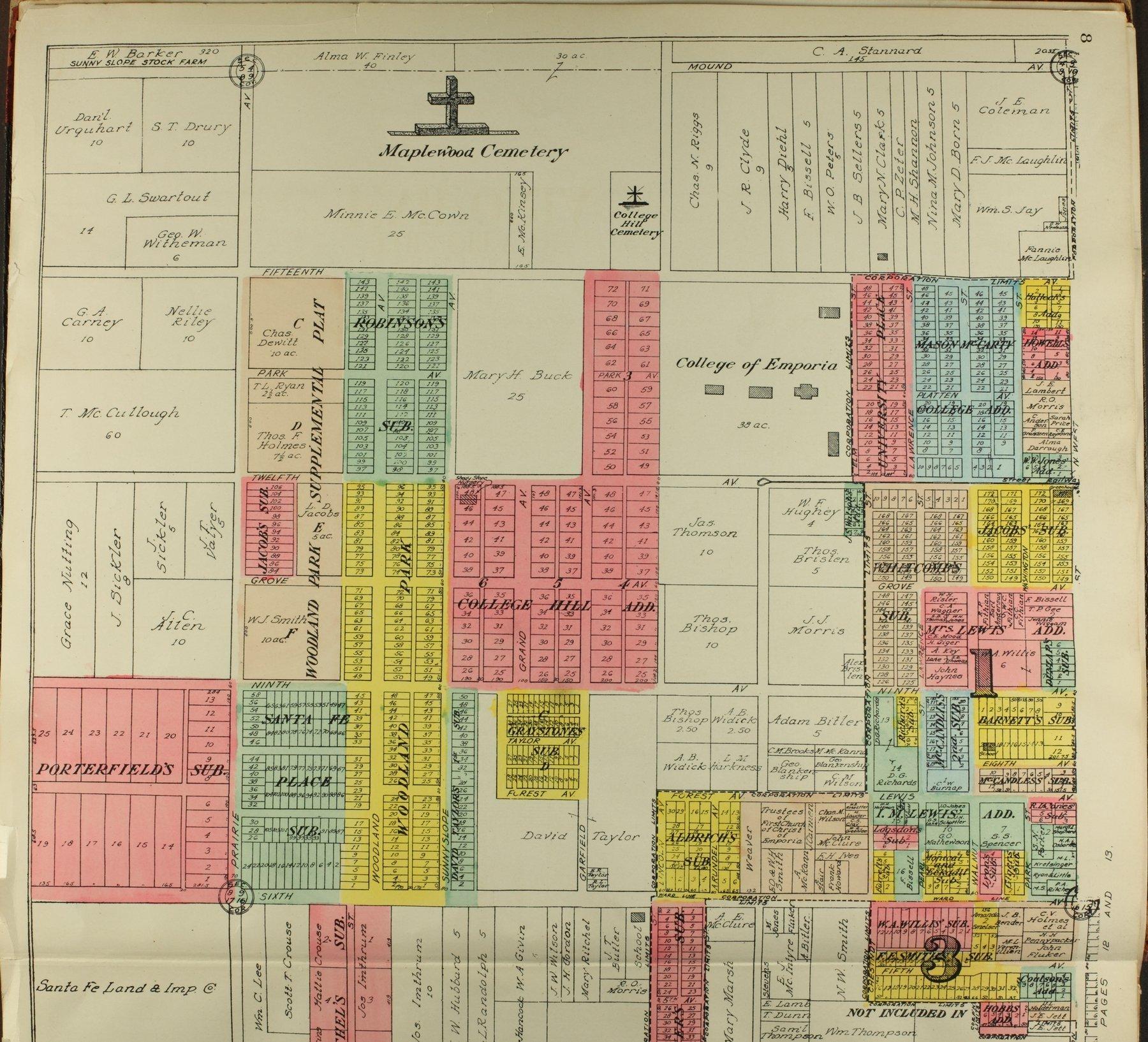 Standard atlas of Lyon County, Kansas - 8