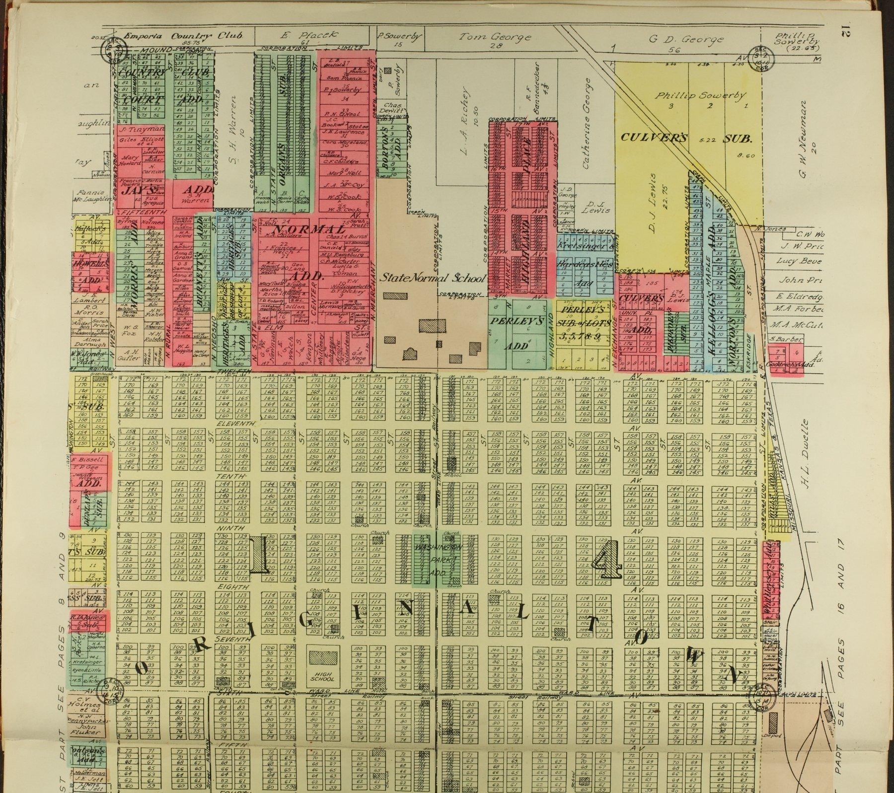 Standard atlas of Lyon County, Kansas - 12