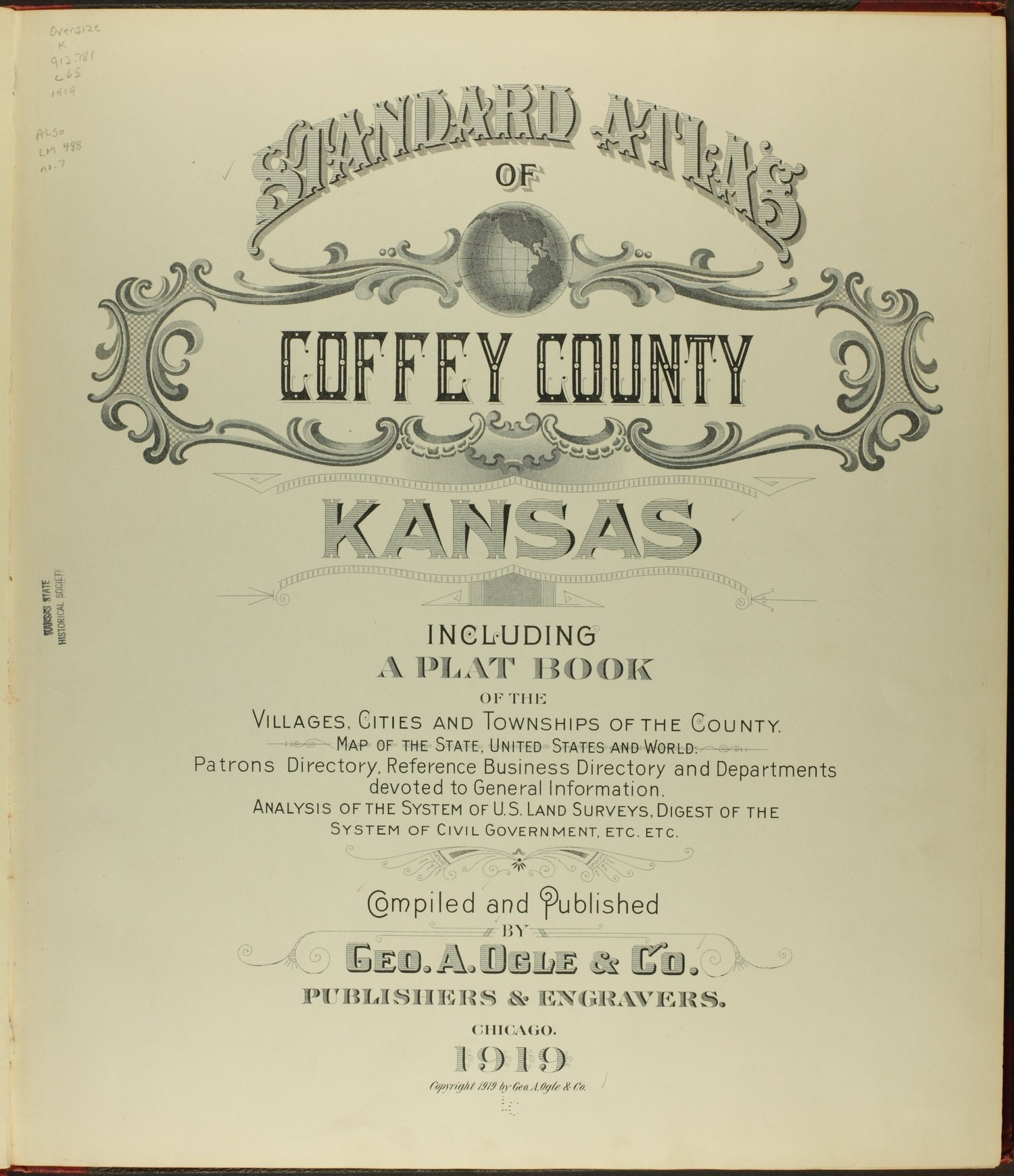 Standard atlas of Coffey County, Kansas - Title Page