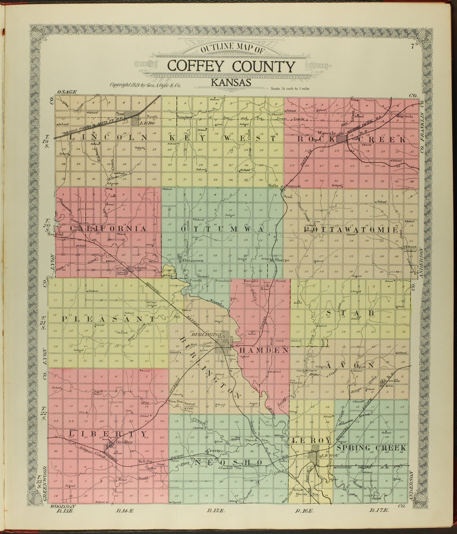 Standard atlas of Coffey County, Kansas - 7