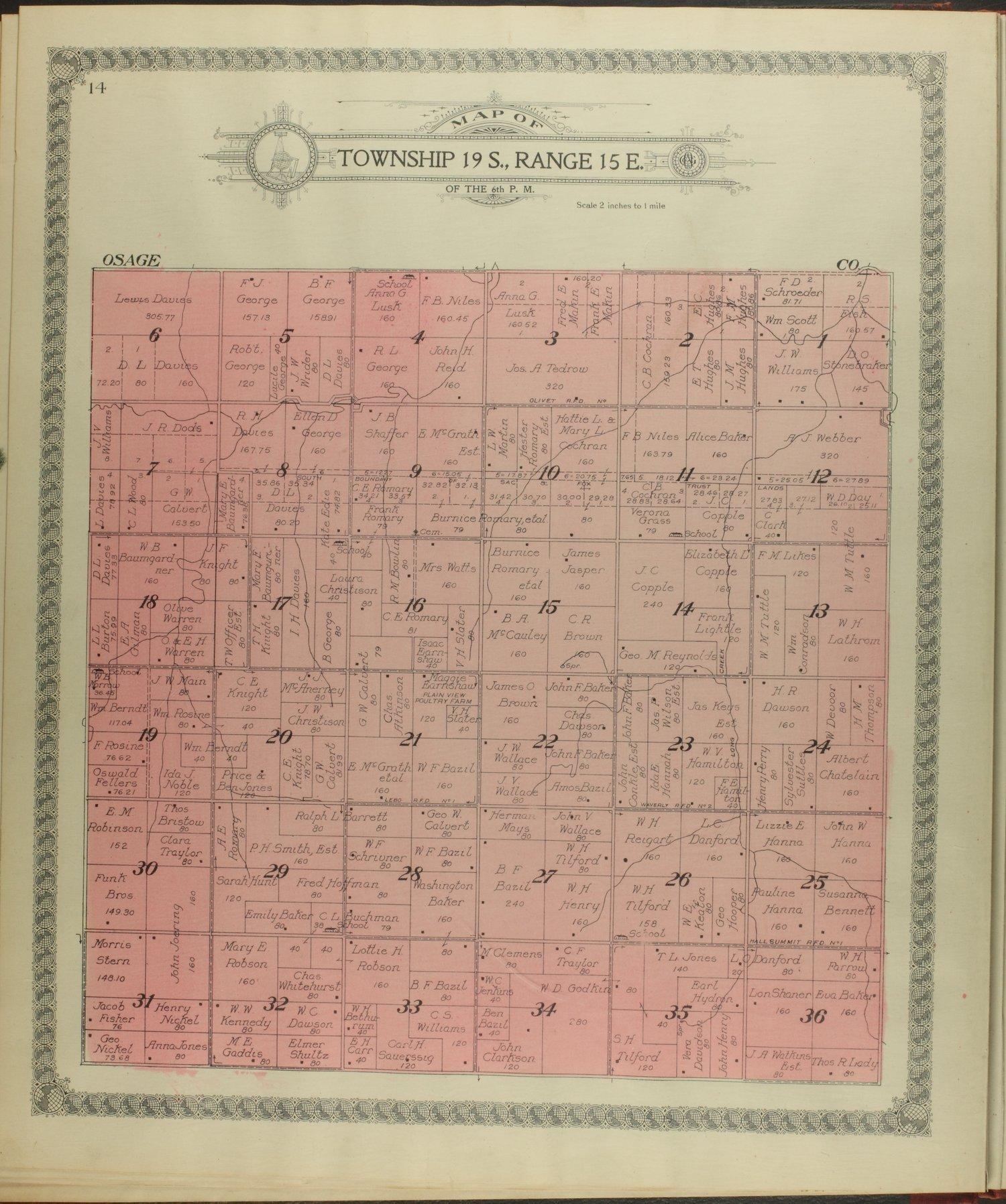 Standard atlas of Coffey County, Kansas - 14