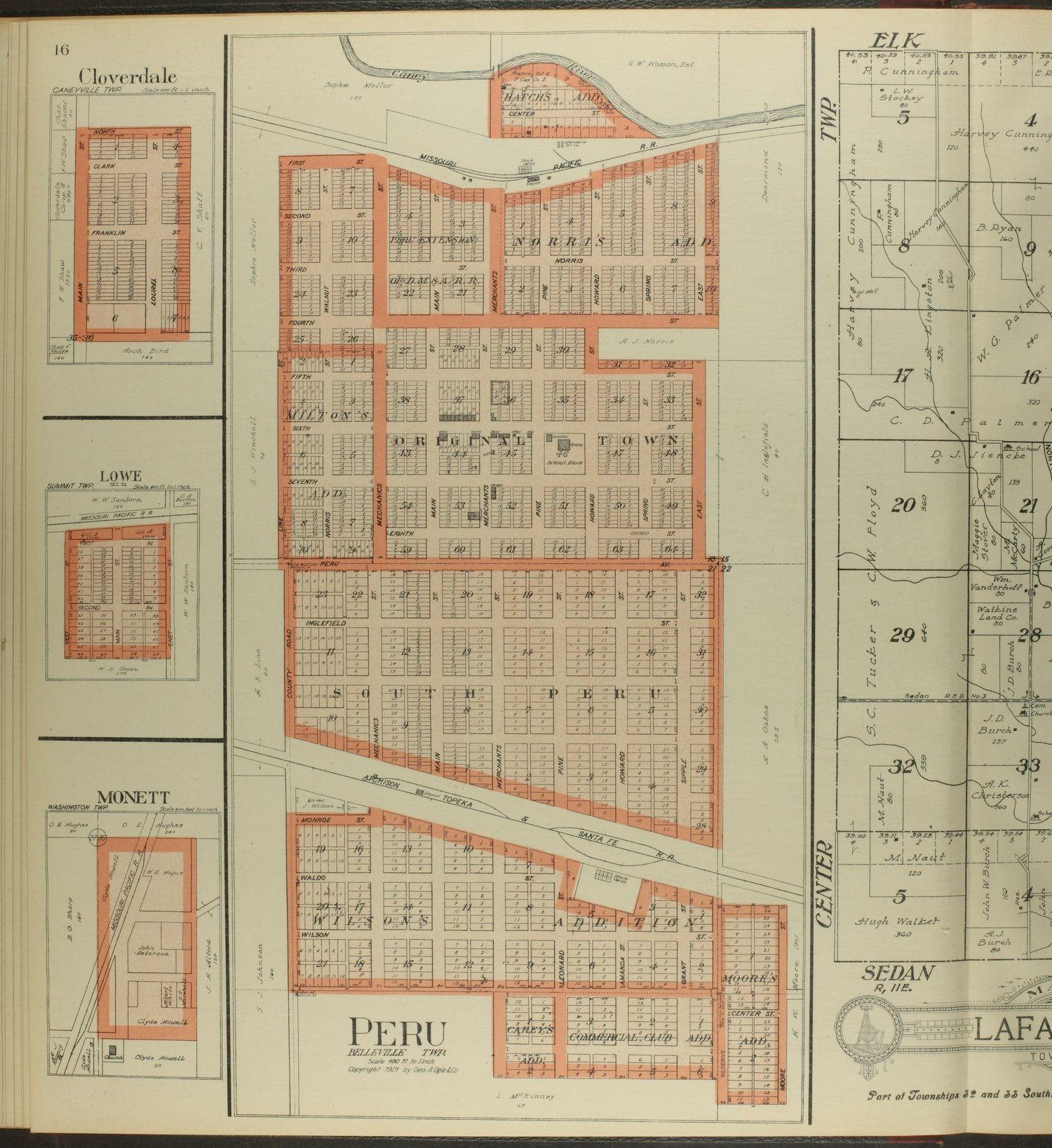 Standard atlas of Chautauqua County, Kansas - 16