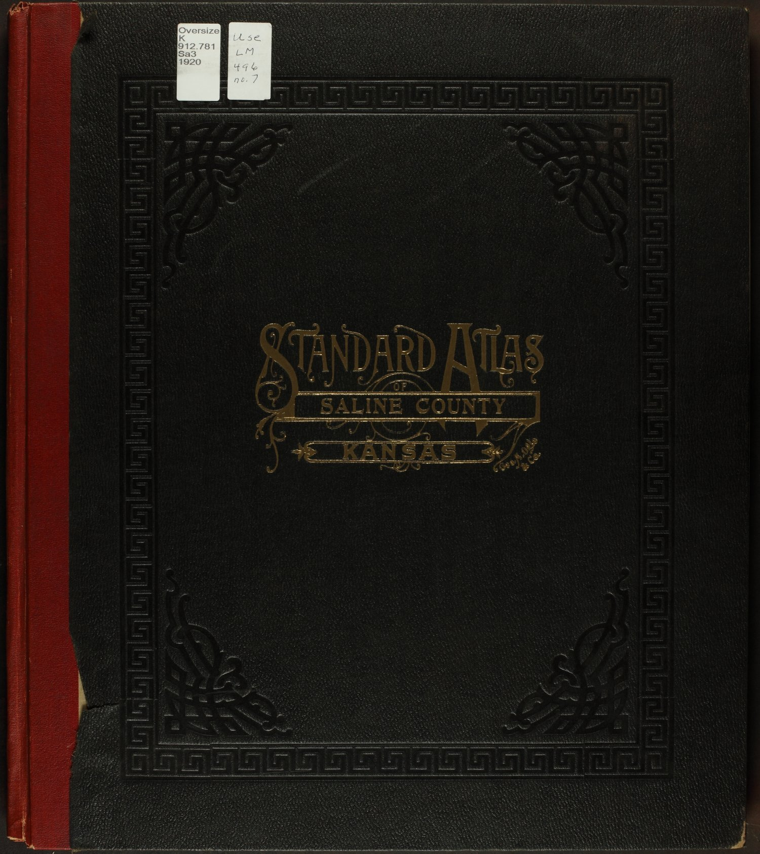 Standard atlas of Saline County, Kansas - Front Cover