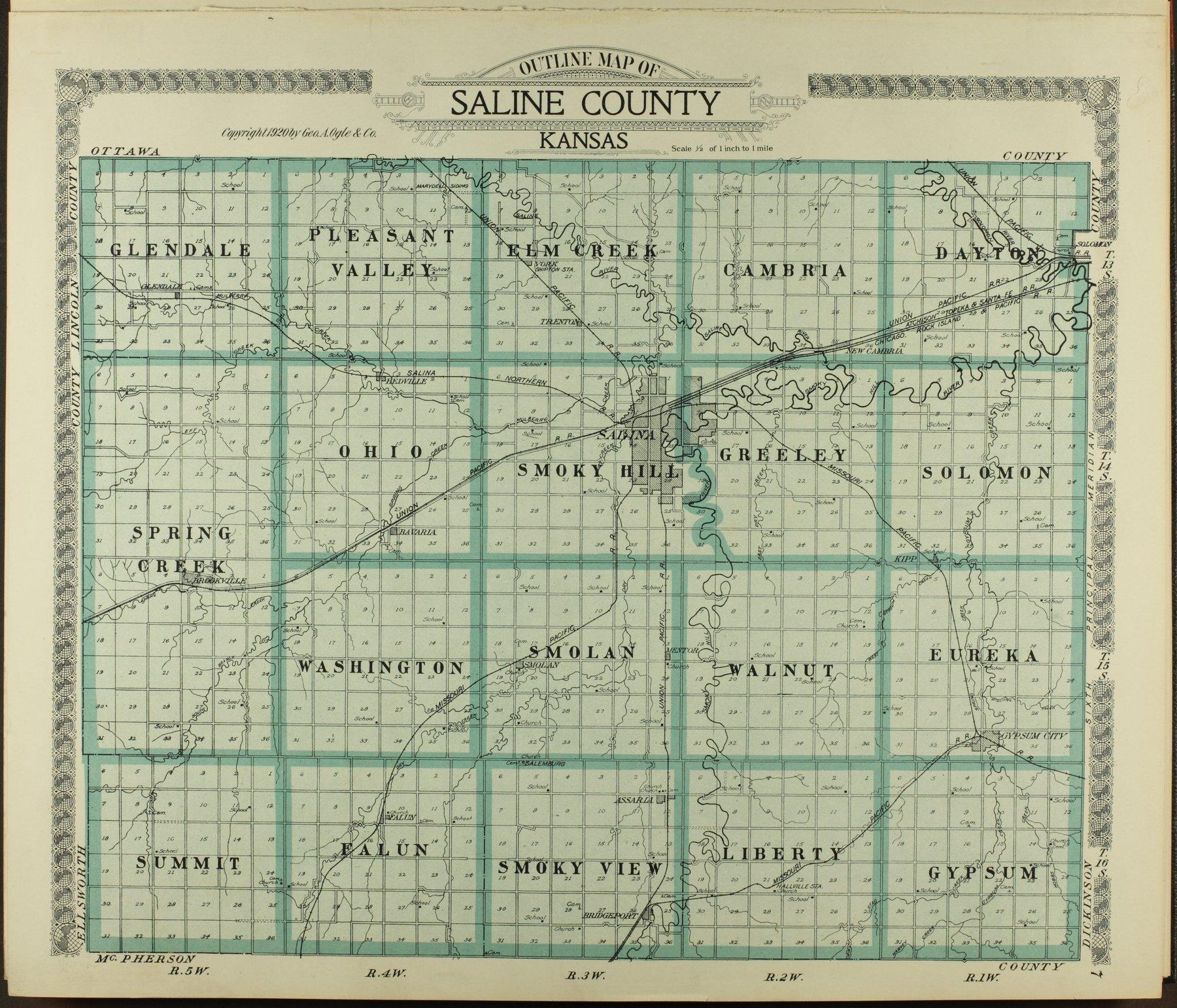 Standard atlas of Saline County, Kansas - 7