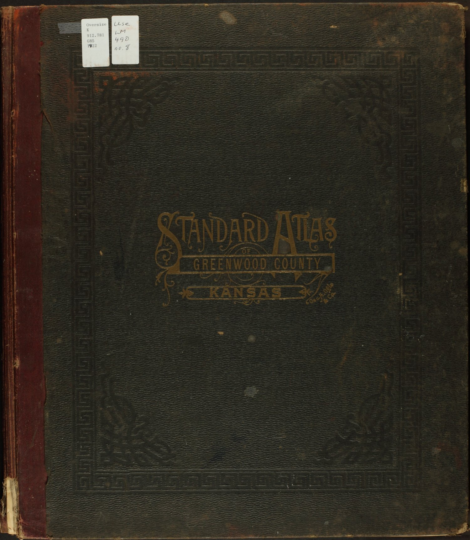 Standard atlas of Greenwood County, Kansas - Front Cover