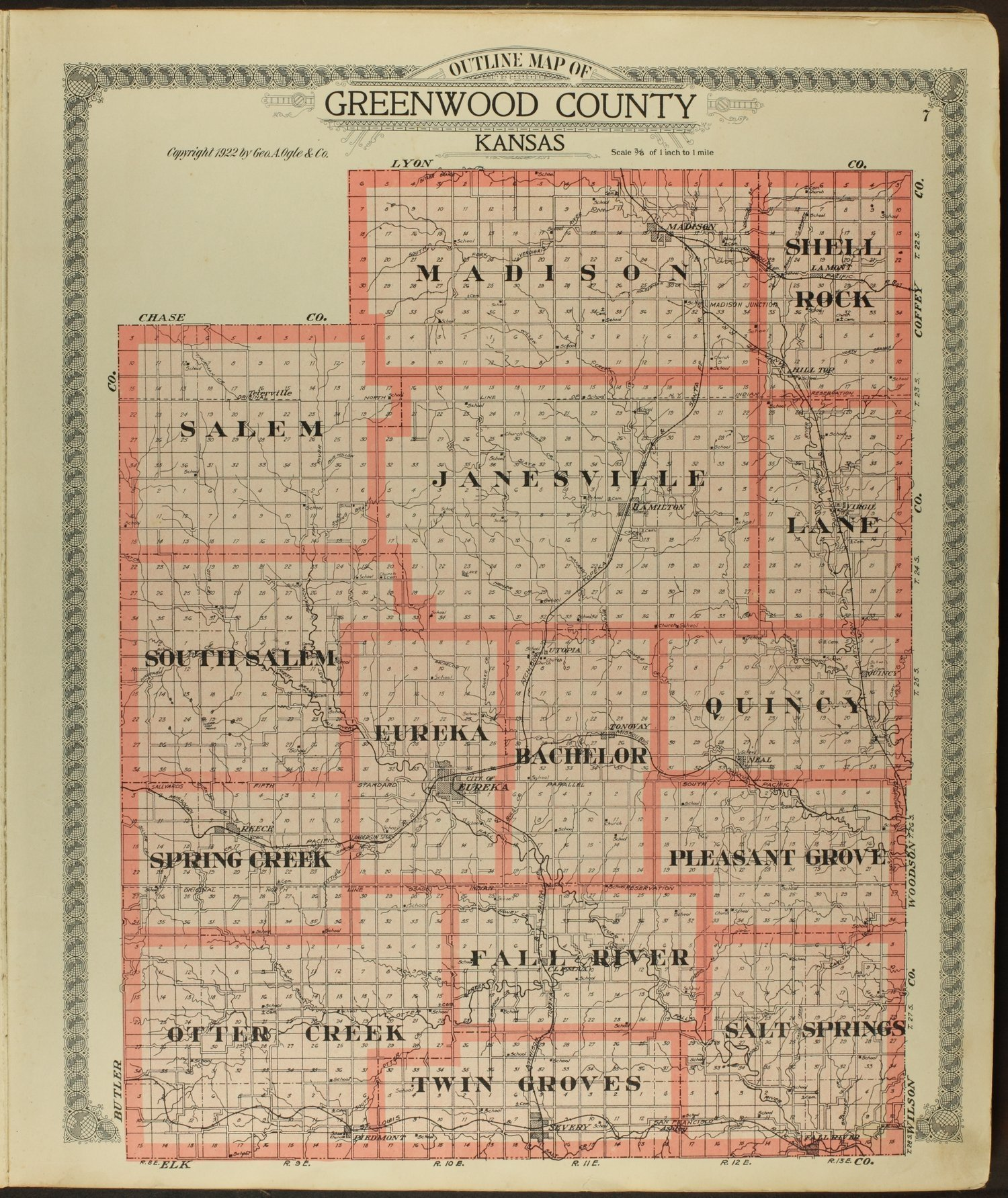 Standard atlas of Greenwood County, Kansas - 7