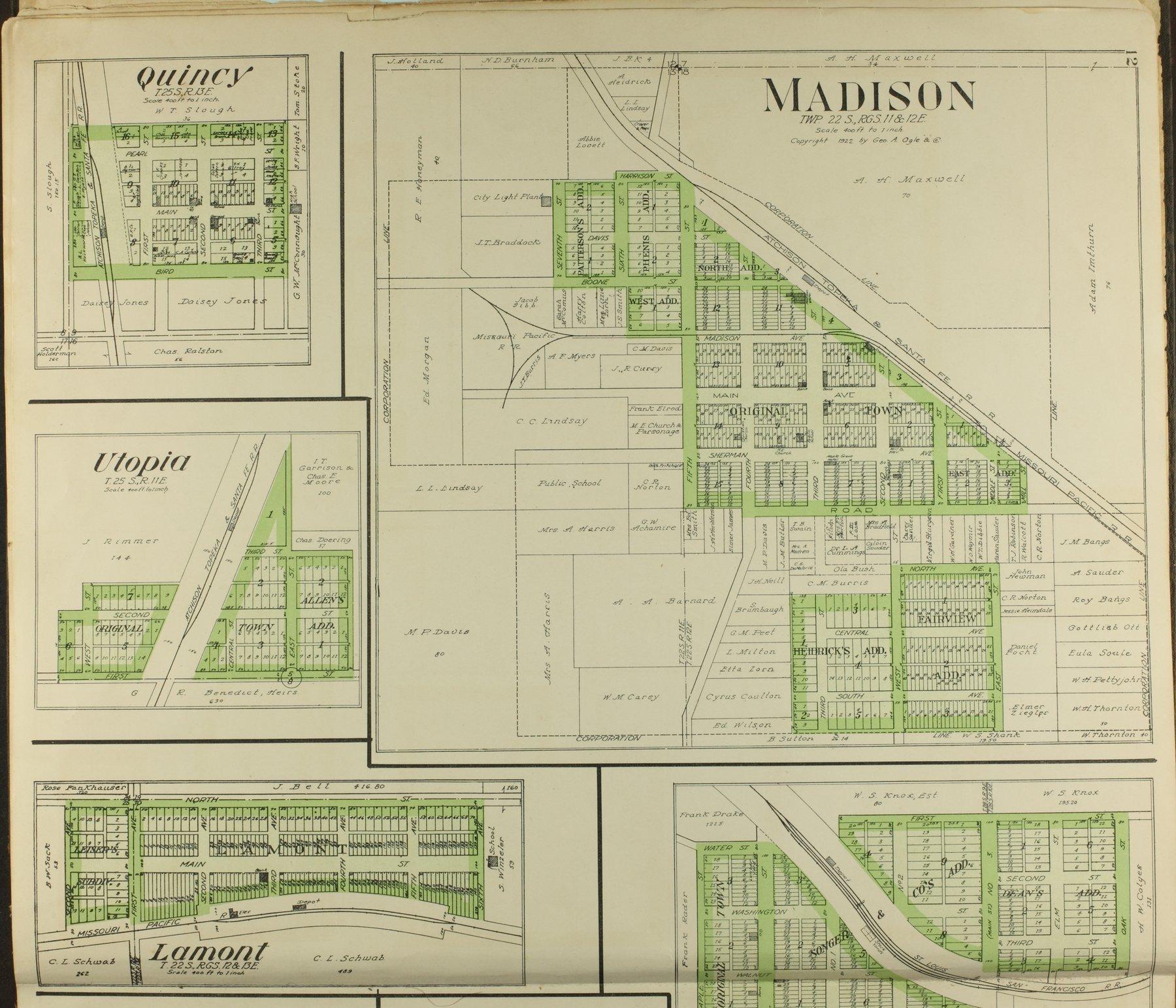 Standard atlas of Greenwood County, Kansas - 12