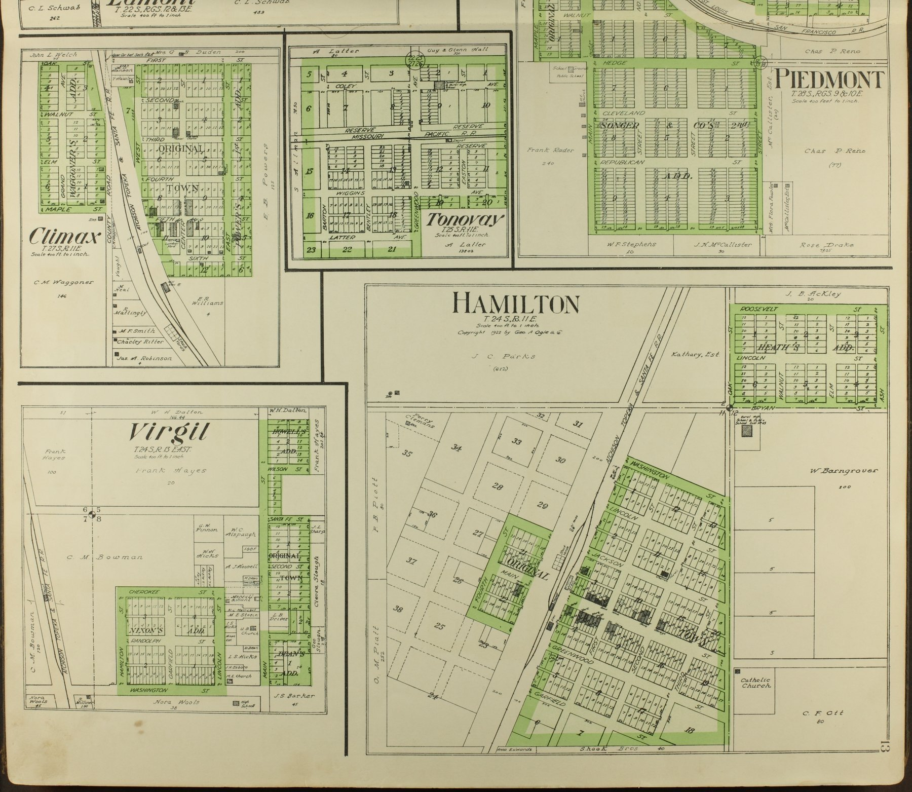 Standard atlas of Greenwood County, Kansas - 13
