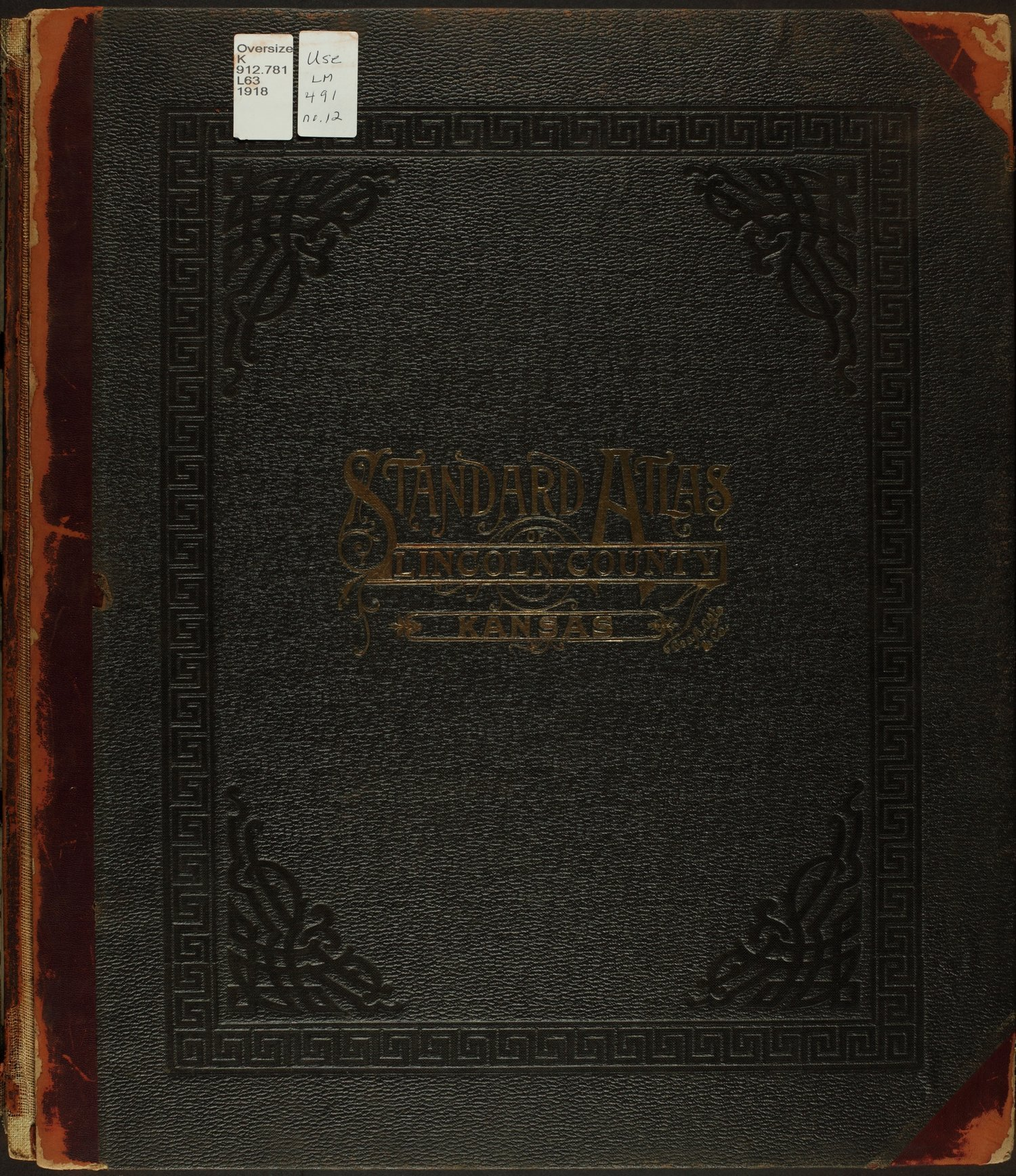 Standard atlas of Lincoln County, Kansas - Front Cover