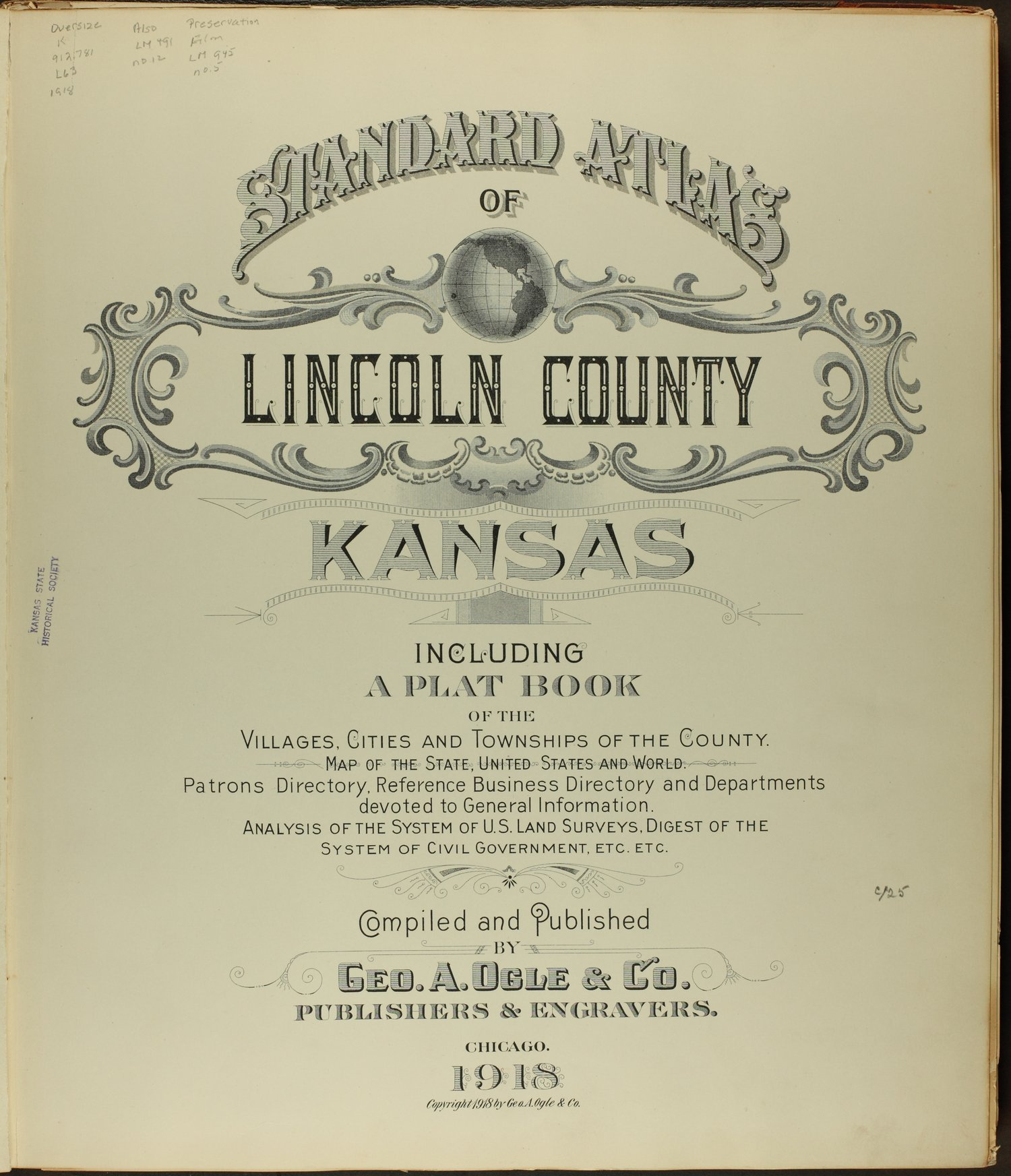 Standard atlas of Lincoln County, Kansas - Title Page