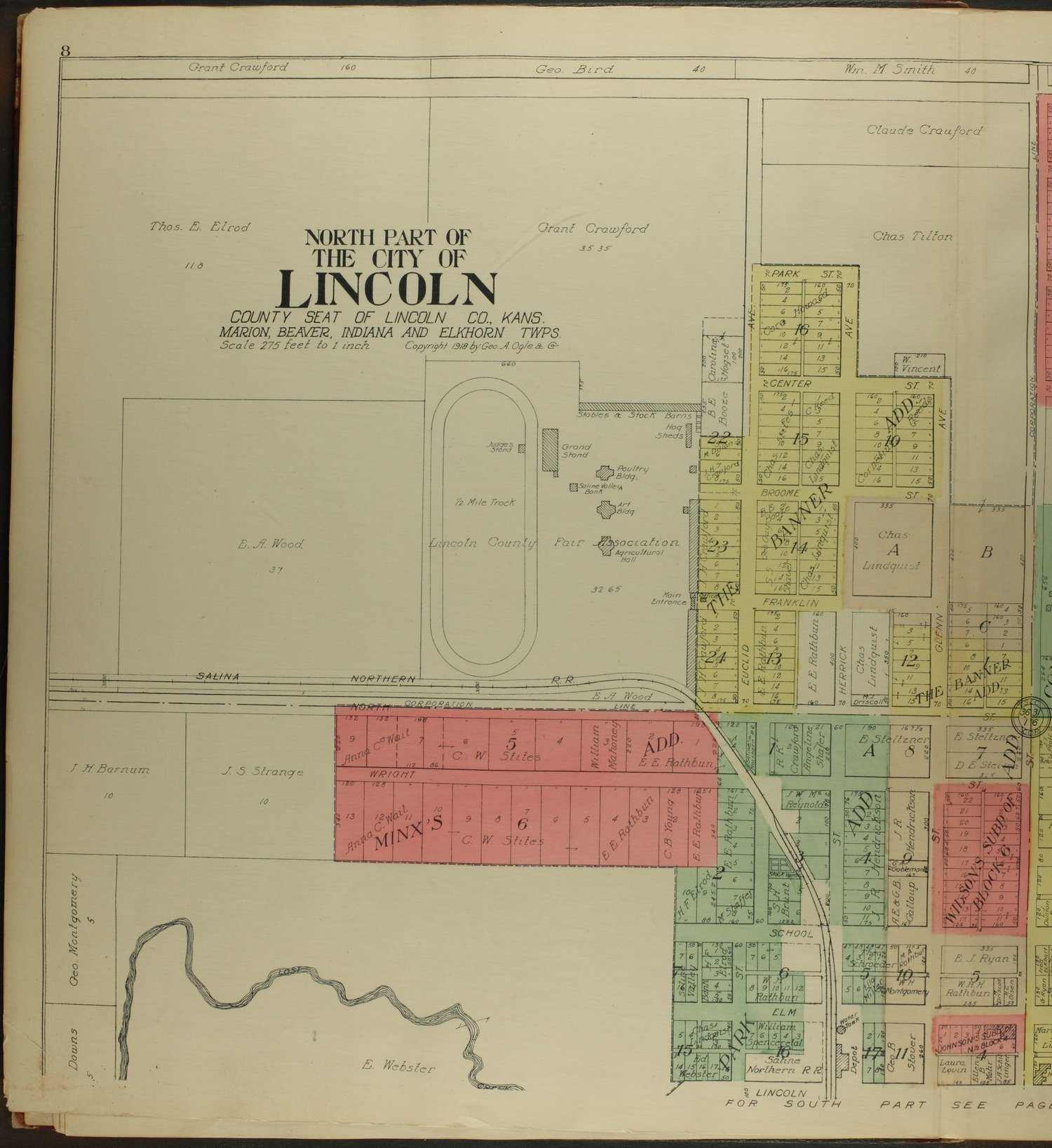 Standard atlas of Lincoln County, Kansas - 8