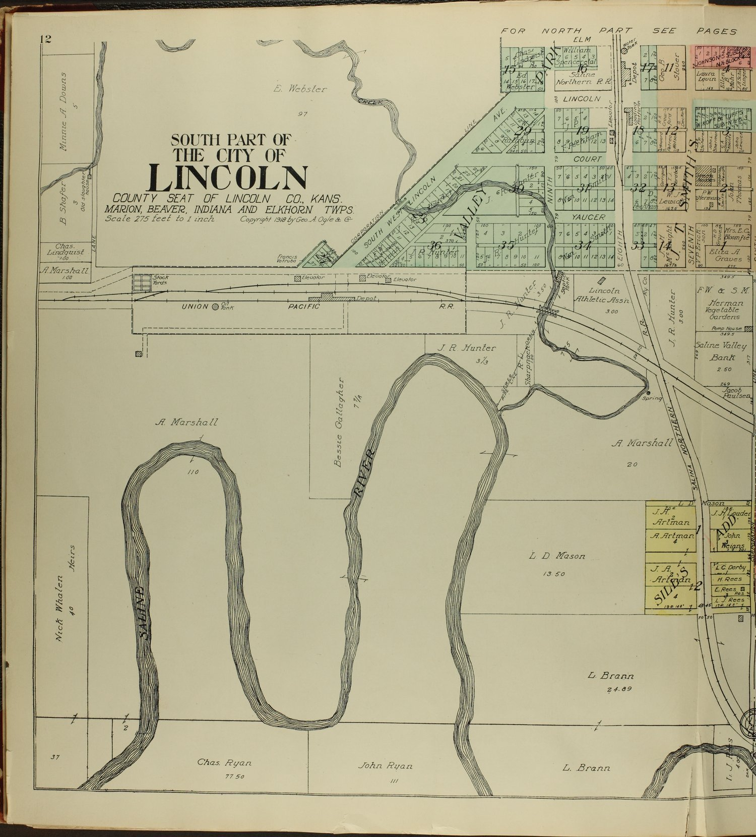 Standard atlas of Lincoln County, Kansas - 12