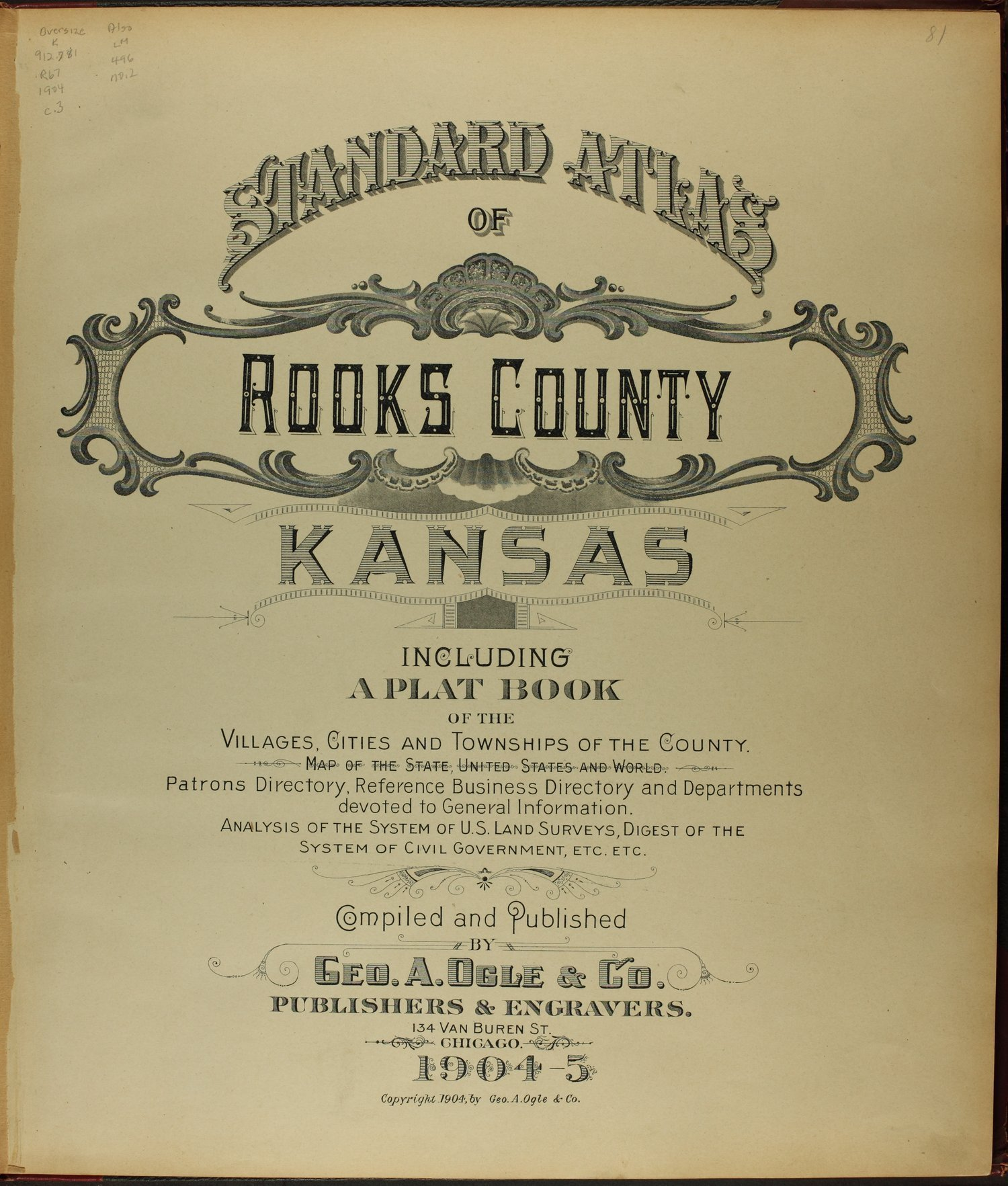 Standard atlas of Rooks County, Kansas - Title Page