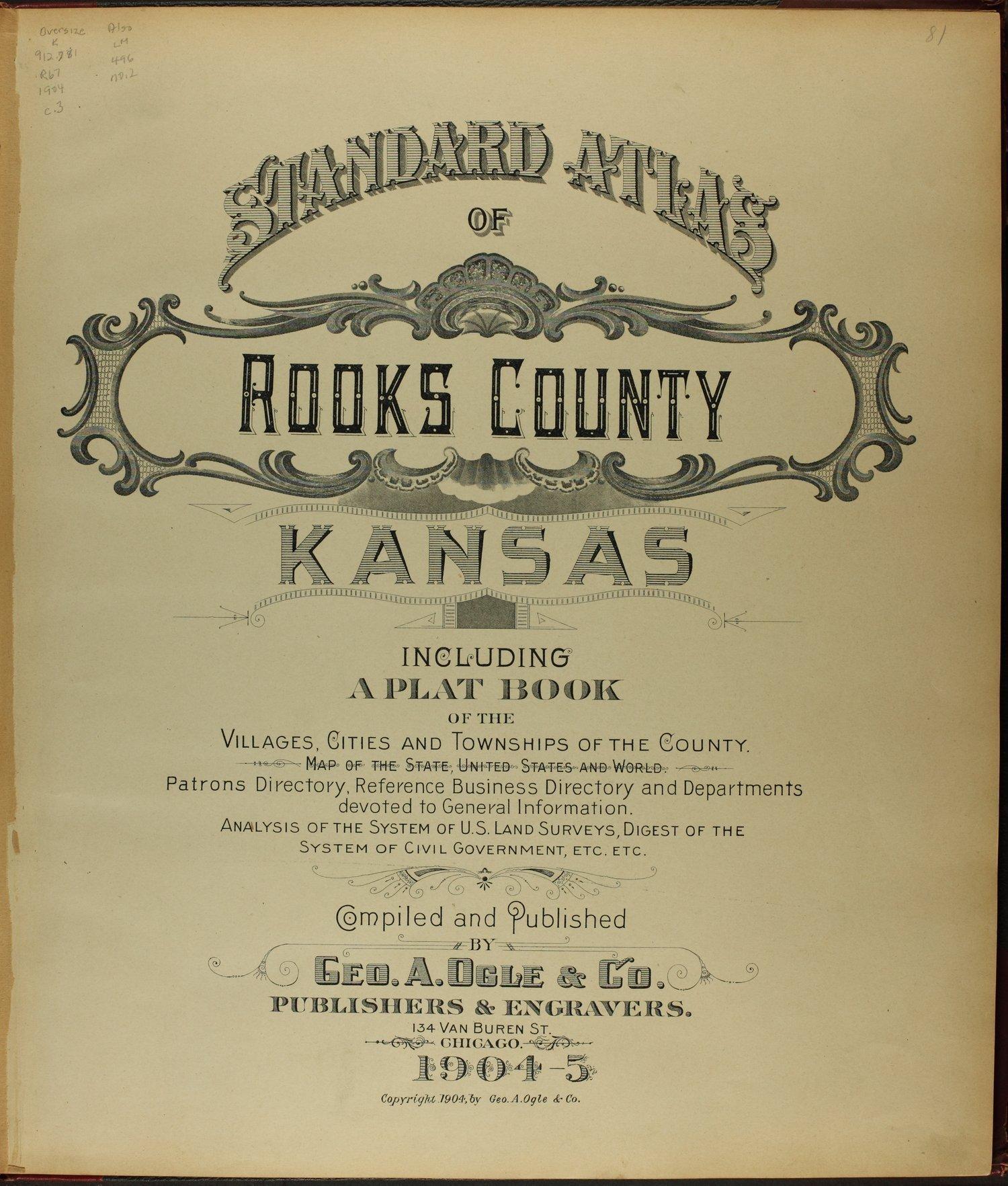 Standard atlas of Rooks County, Kansas - Title Page