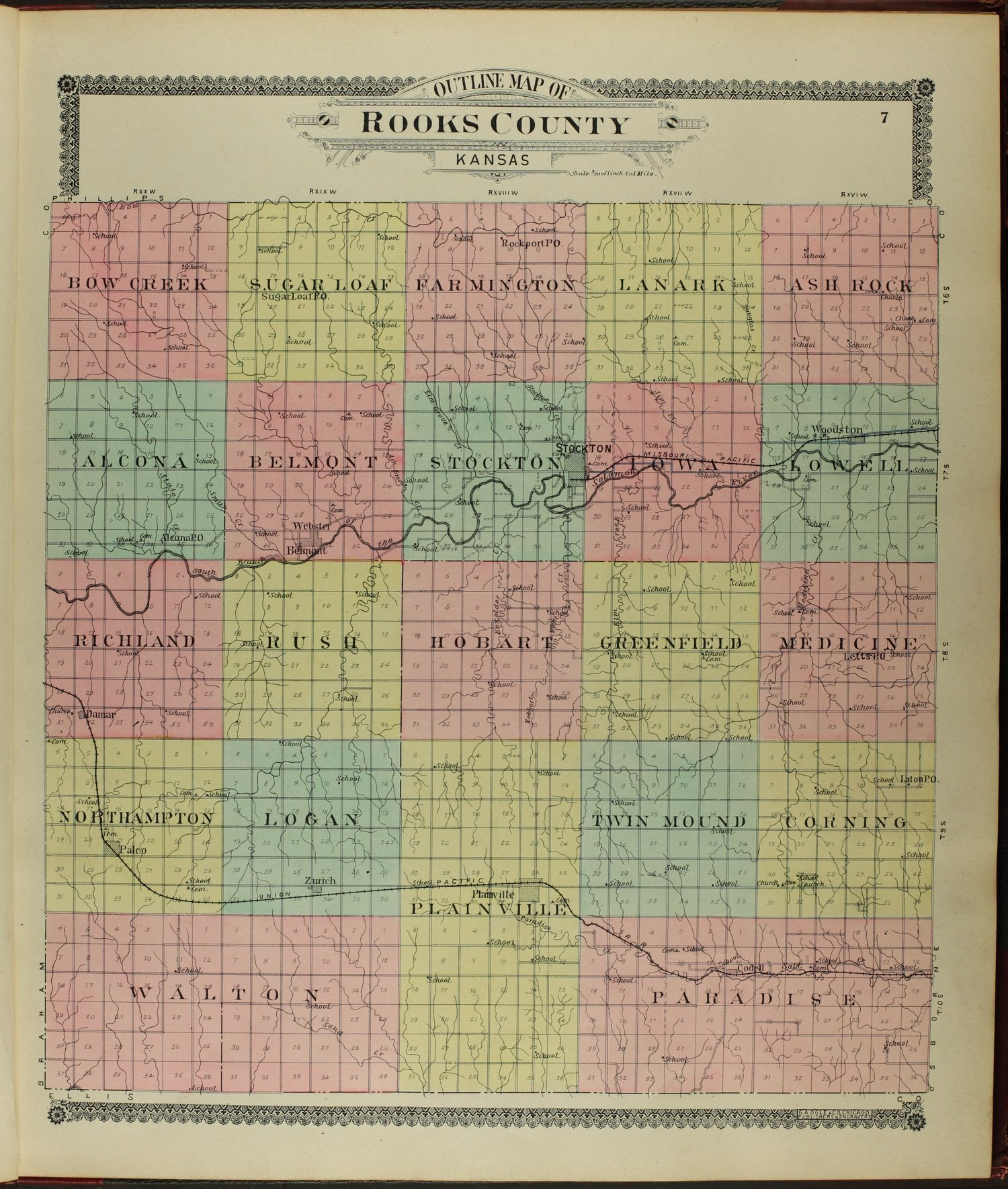 Standard atlas of Rooks County, Kansas - 7