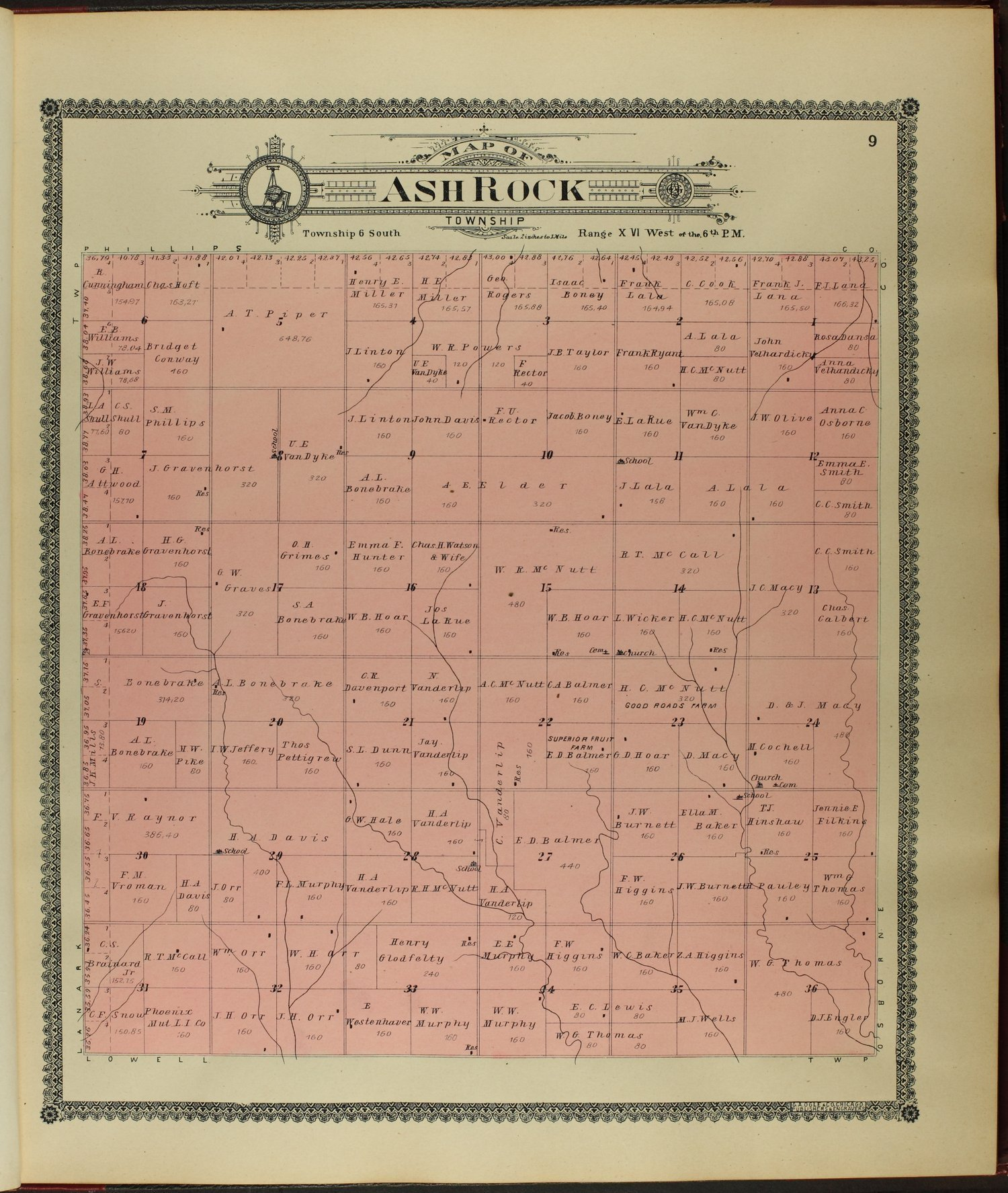 Standard atlas of Rooks County, Kansas - 9