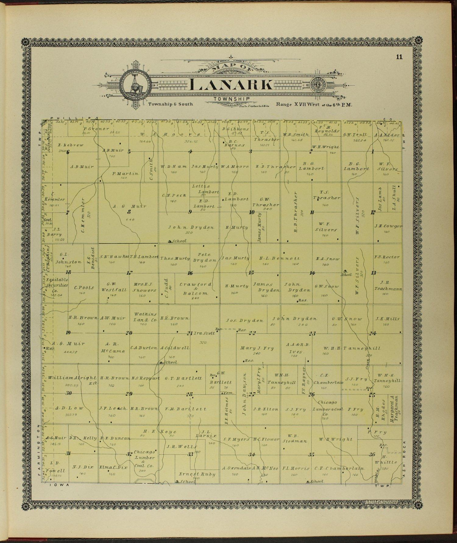 Standard atlas of Rooks County, Kansas - 11