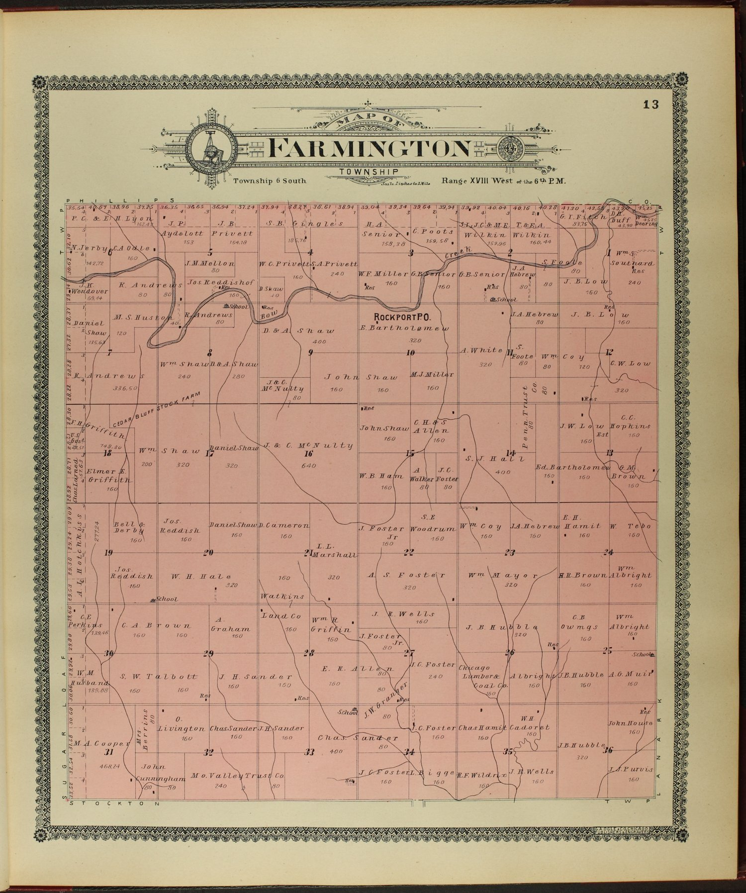 Standard atlas of Rooks County, Kansas - 13