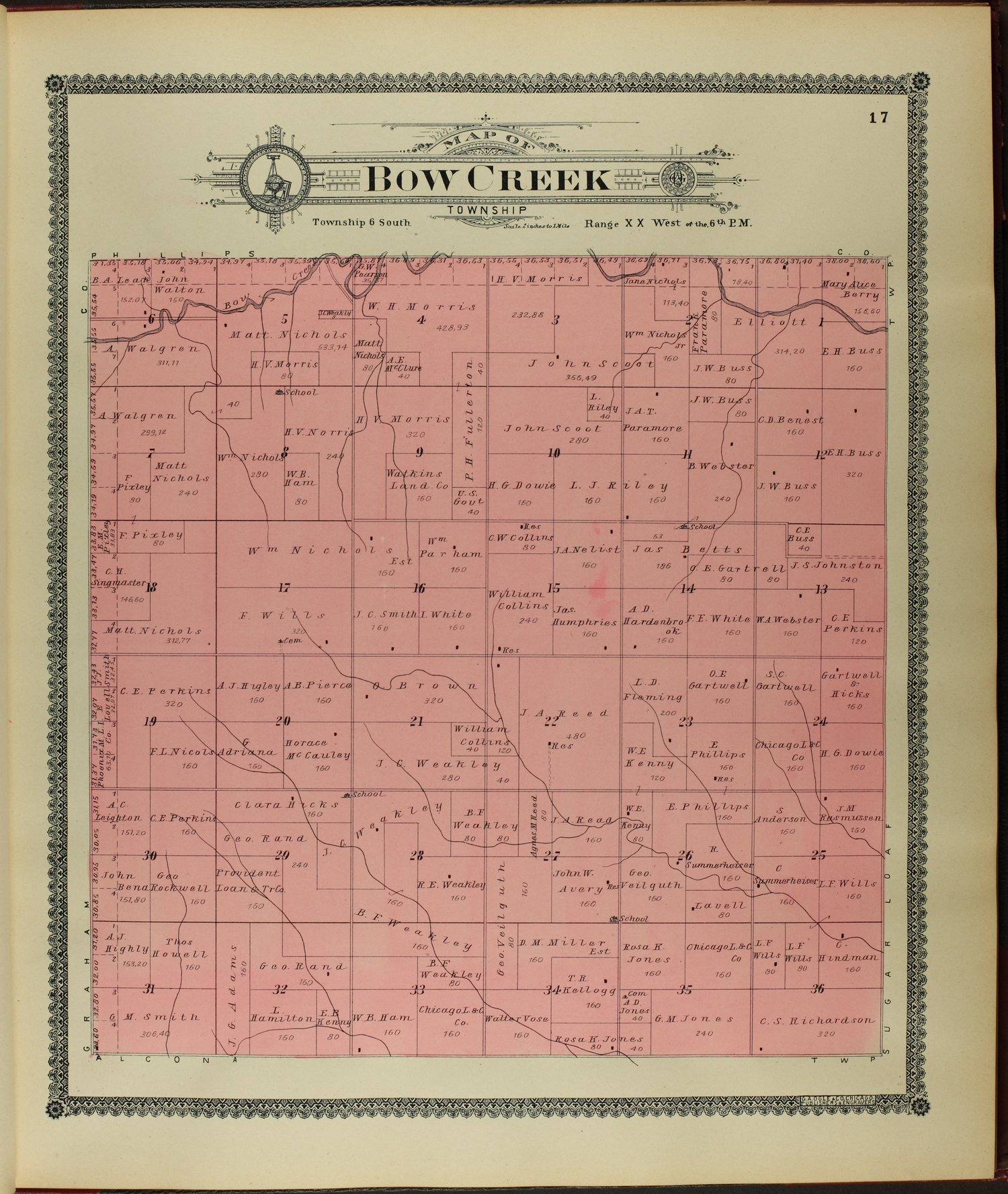 Standard atlas of Rooks County, Kansas - 17