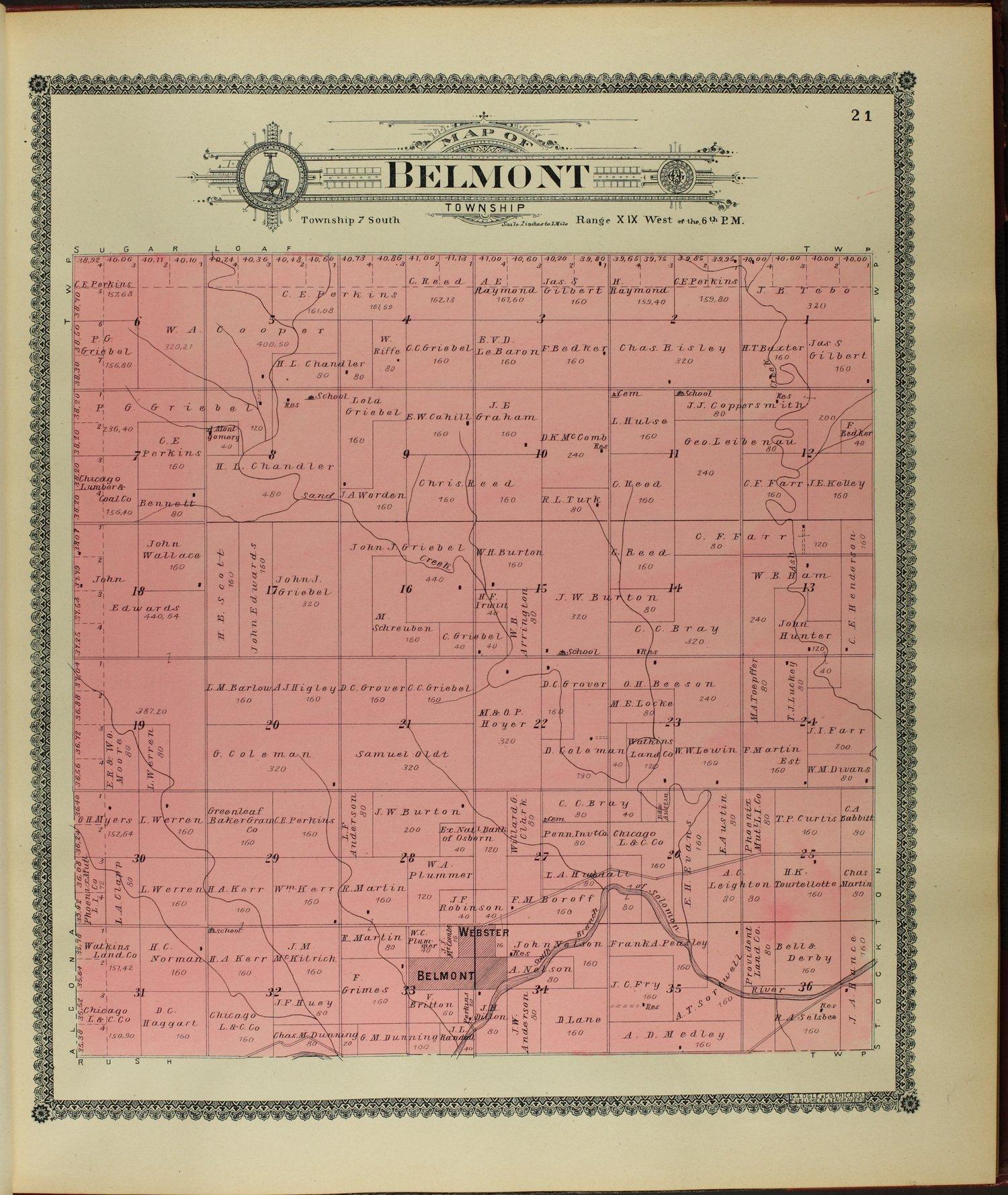 Standard atlas of Rooks County, Kansas - 21