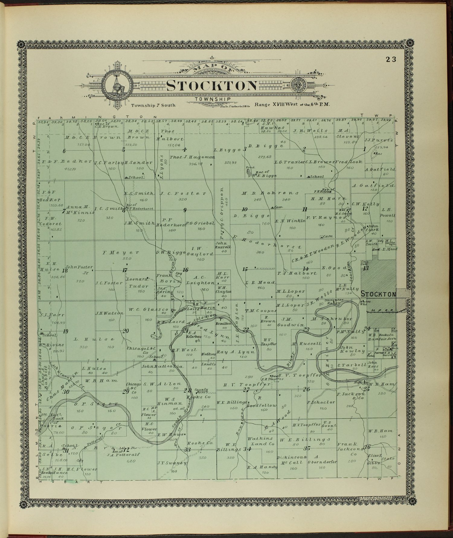 Standard atlas of Rooks County, Kansas - 23