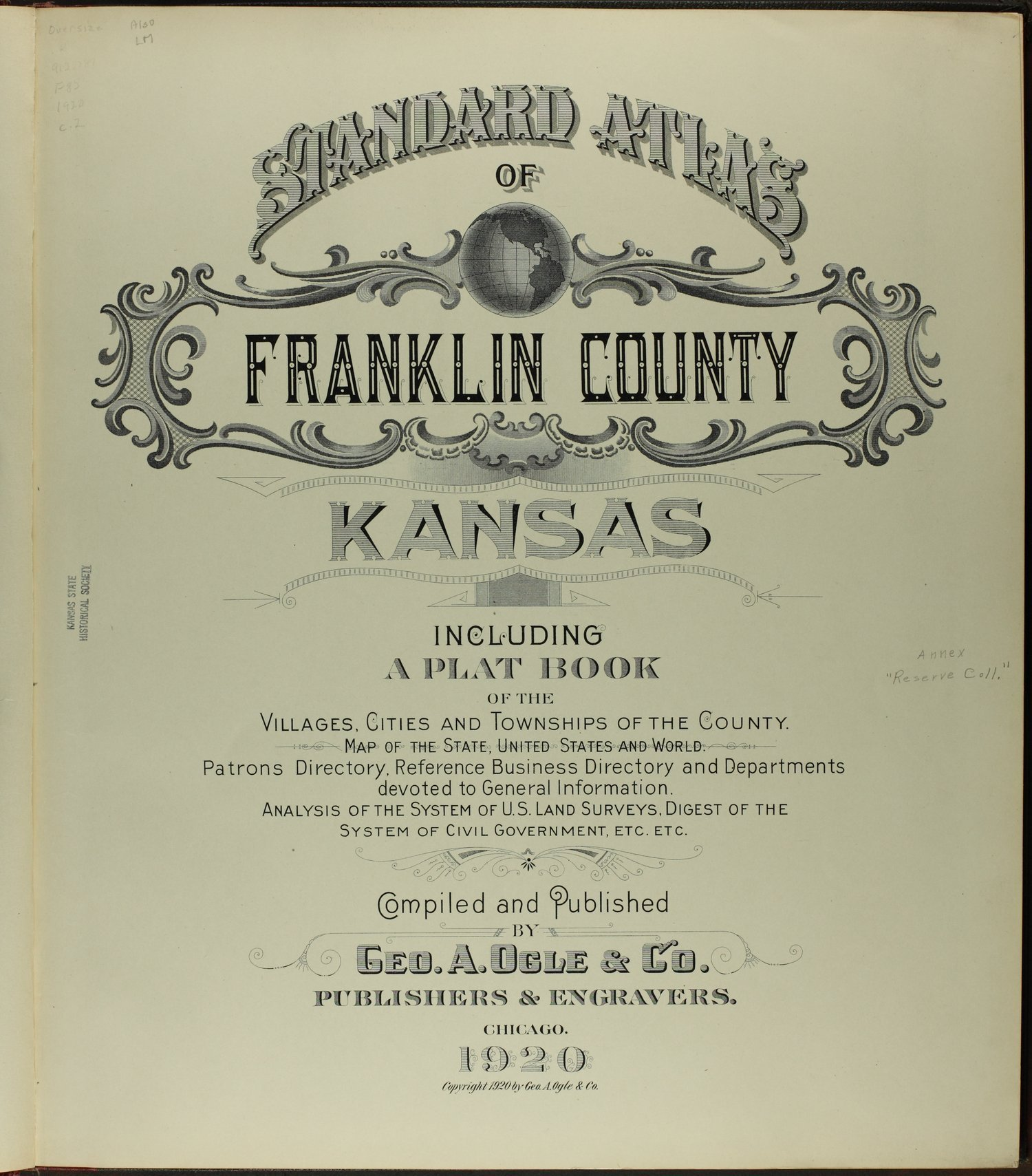 Standard atlas of Franklin County, Kansas - Title Page