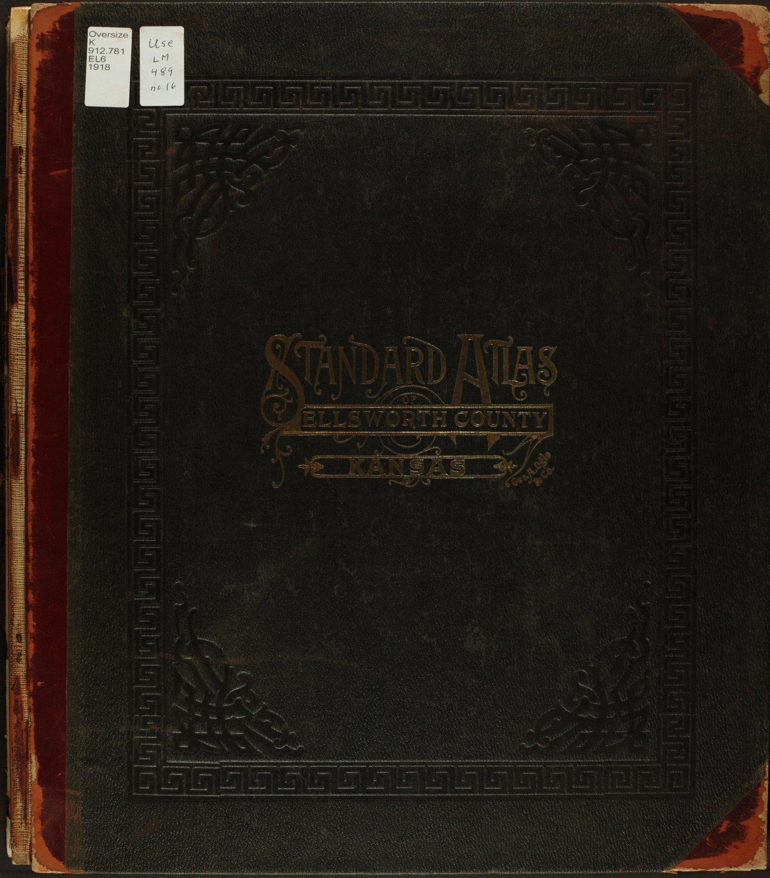 Standard atlas of Ellsworth County, Kansas - Front Cover