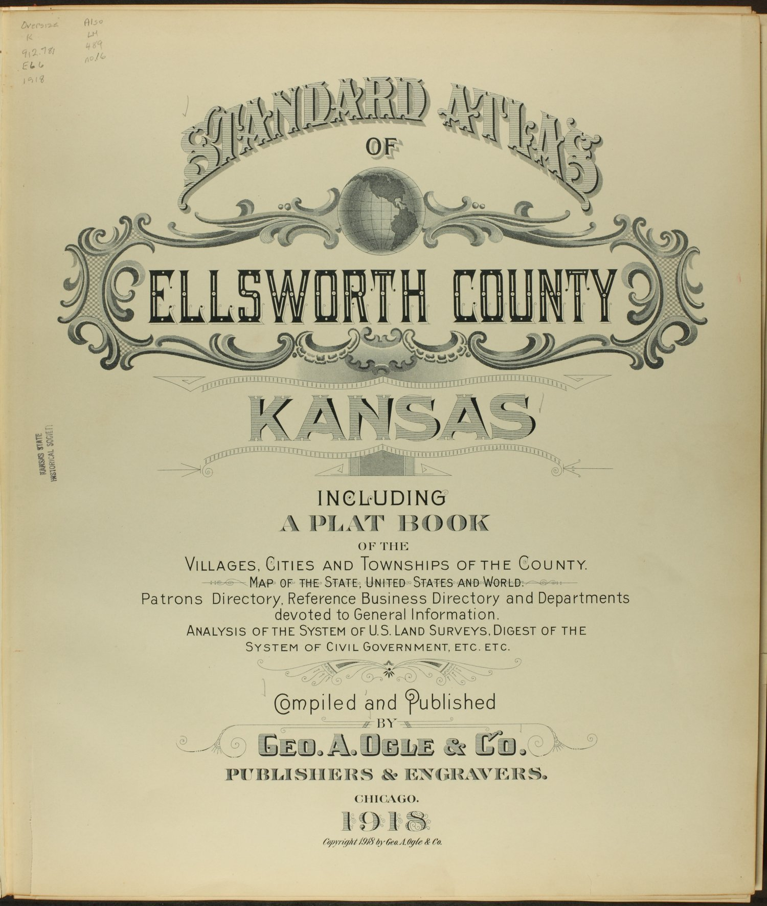 Standard atlas of Ellsworth County, Kansas - Title Page