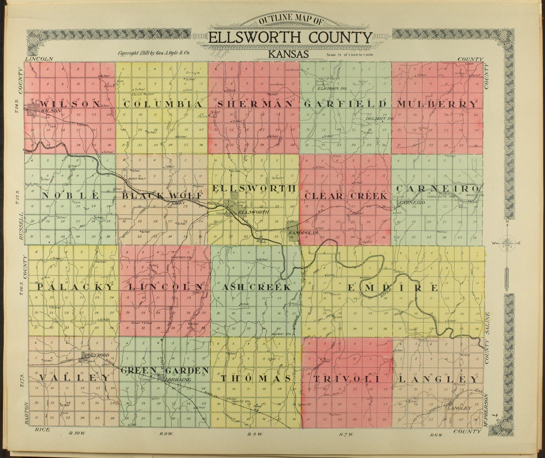 Standard atlas of Ellsworth County, Kansas - 7