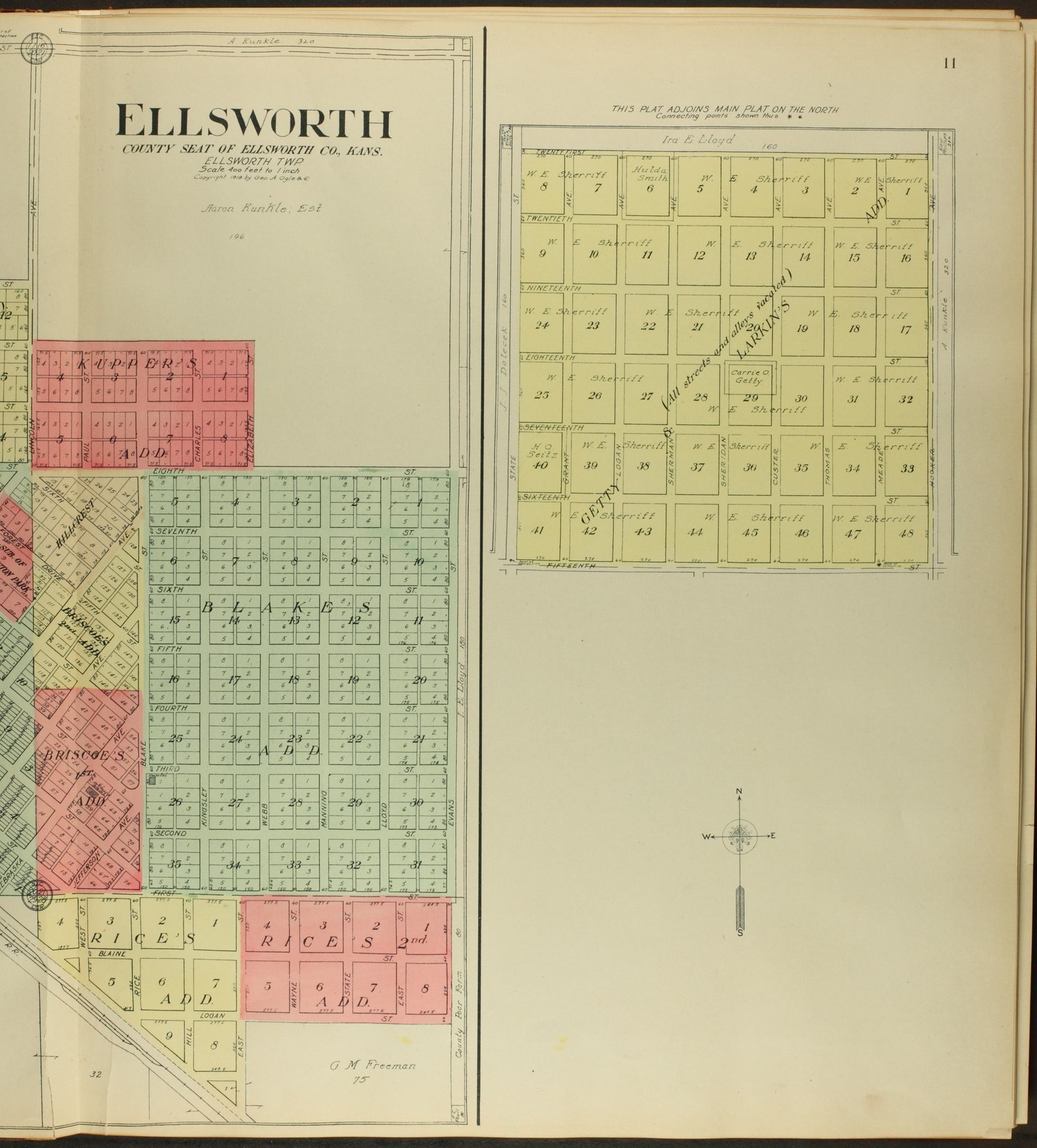 Standard atlas of Ellsworth County, Kansas - 11