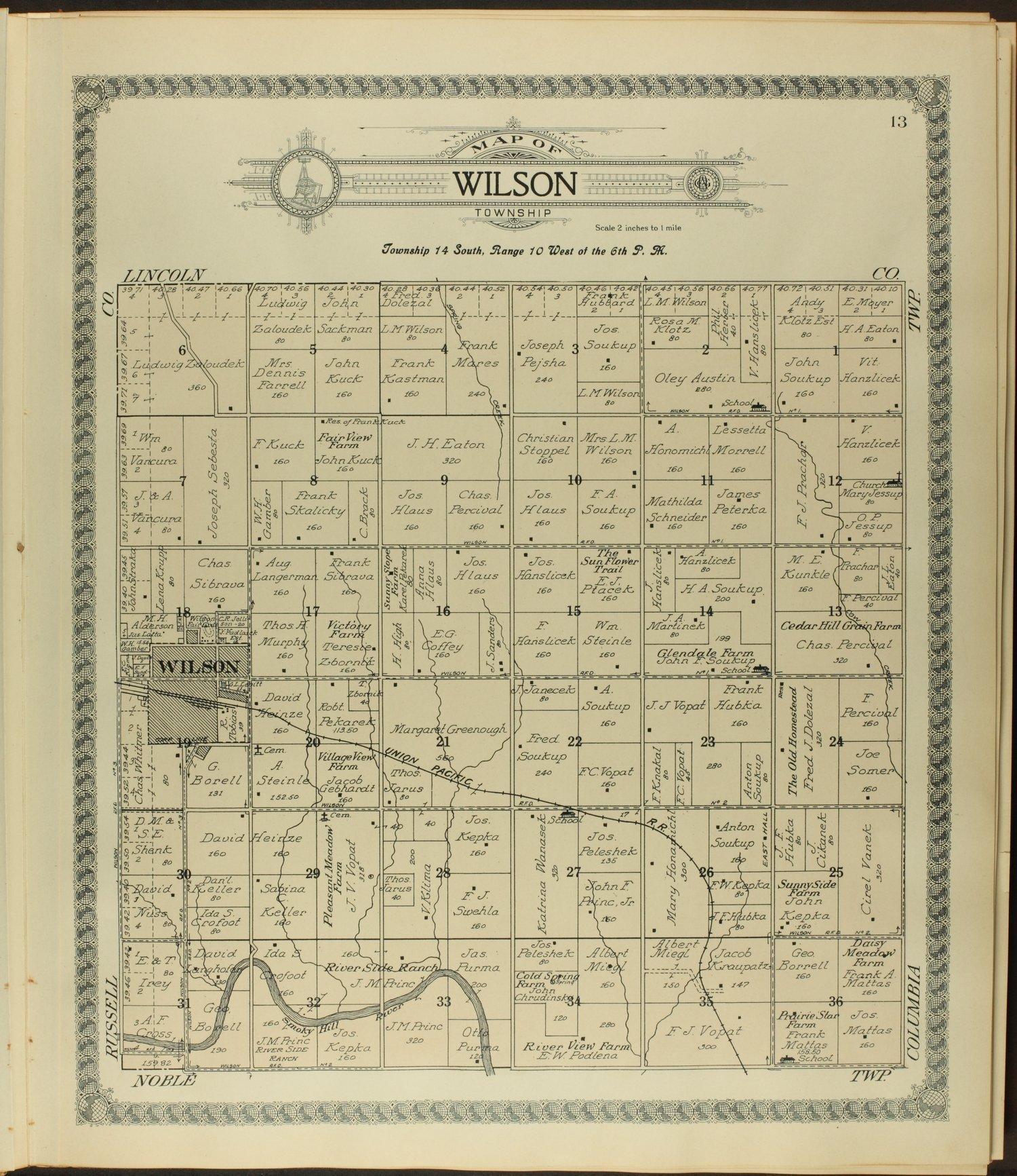 Standard atlas of Ellsworth County, Kansas - 13
