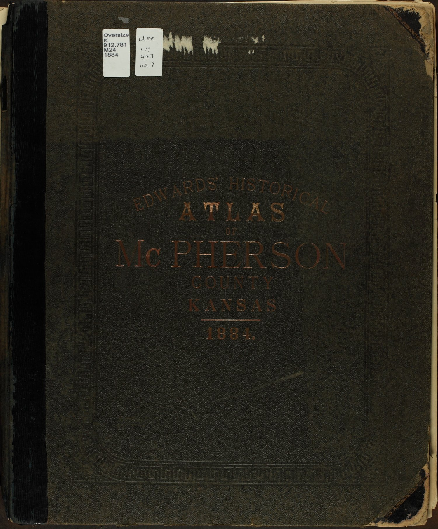 Edwards' atlas of McPherson County, Kansas - Front Cover
