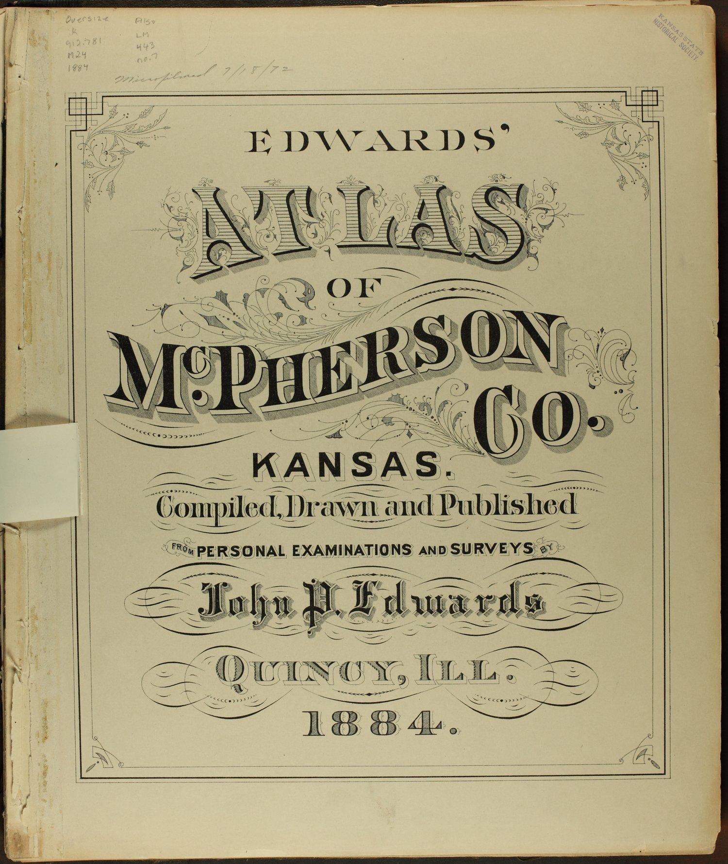 Edwards' atlas of McPherson County, Kansas - Title Page