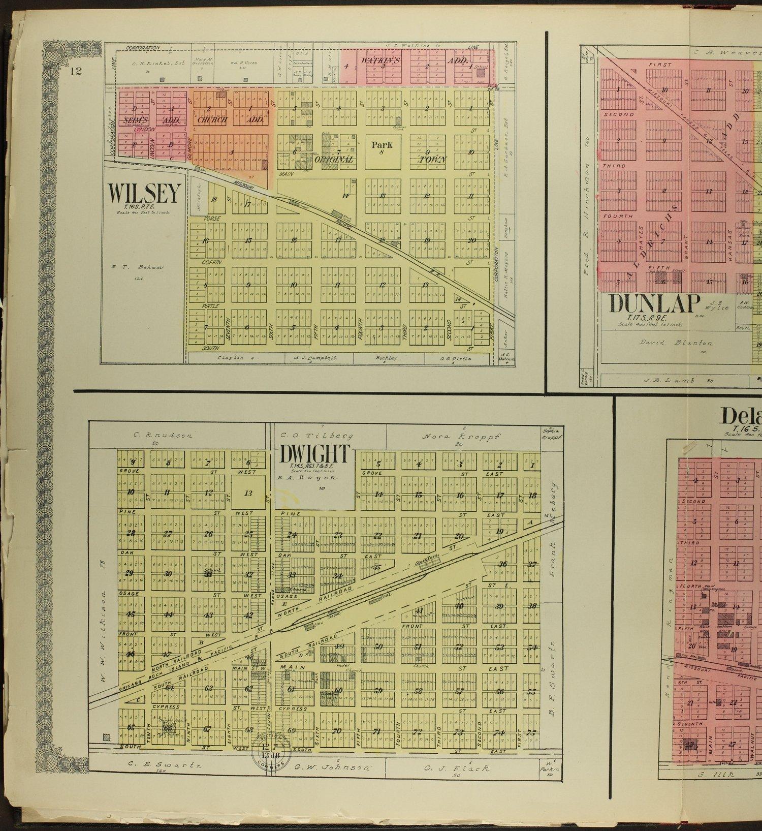 Standard atlas of Morris County, Kansas - 12
