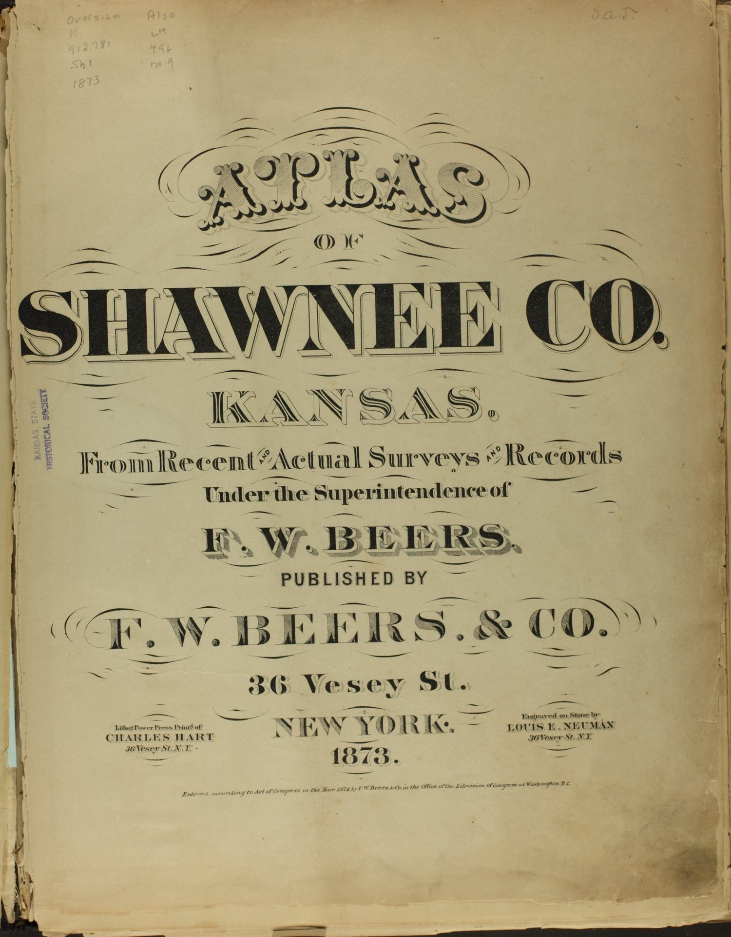 Atlas of Shawnee County, Kansas - Title Page