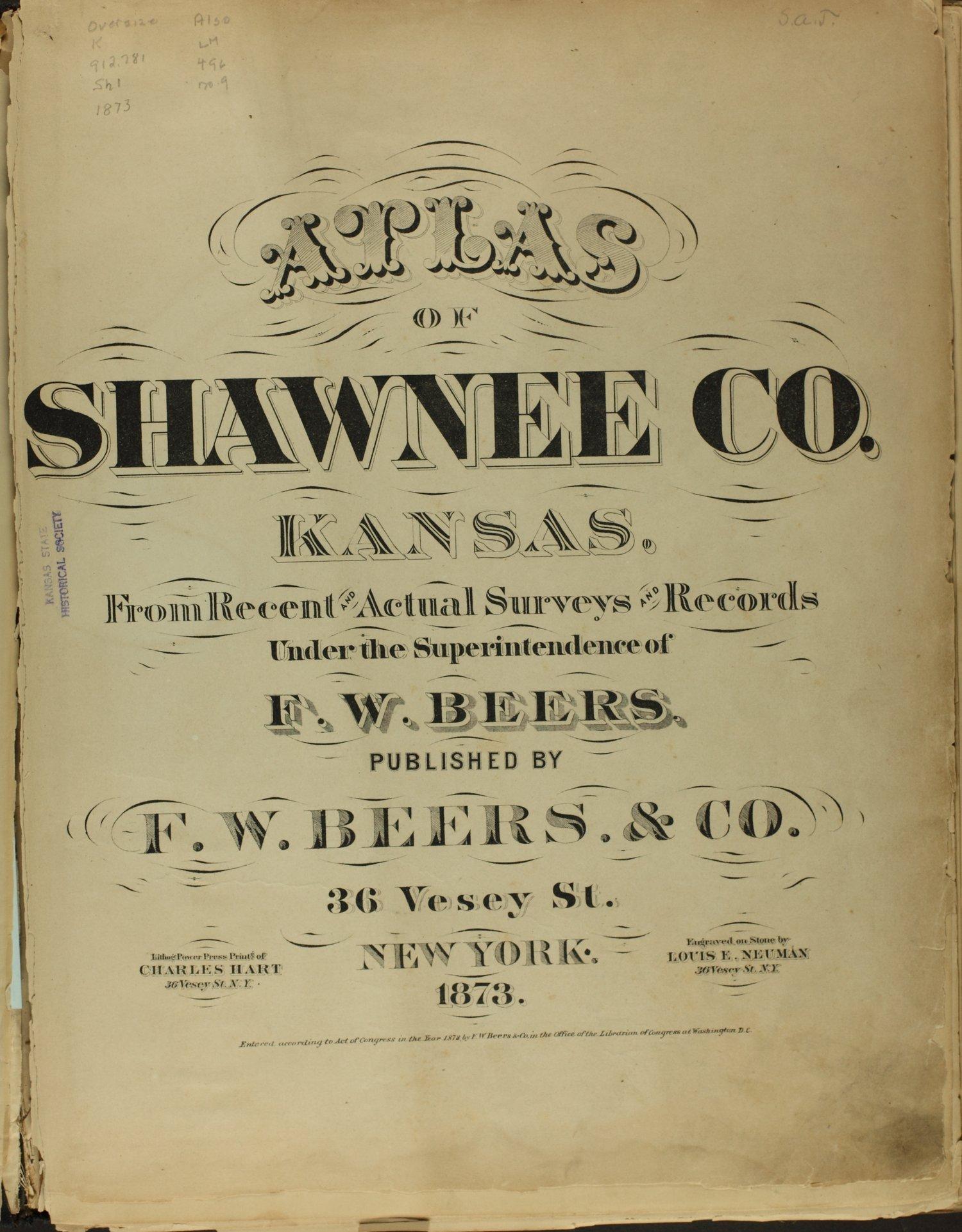 Atlas of Shawnee County, Kansas - Title Page