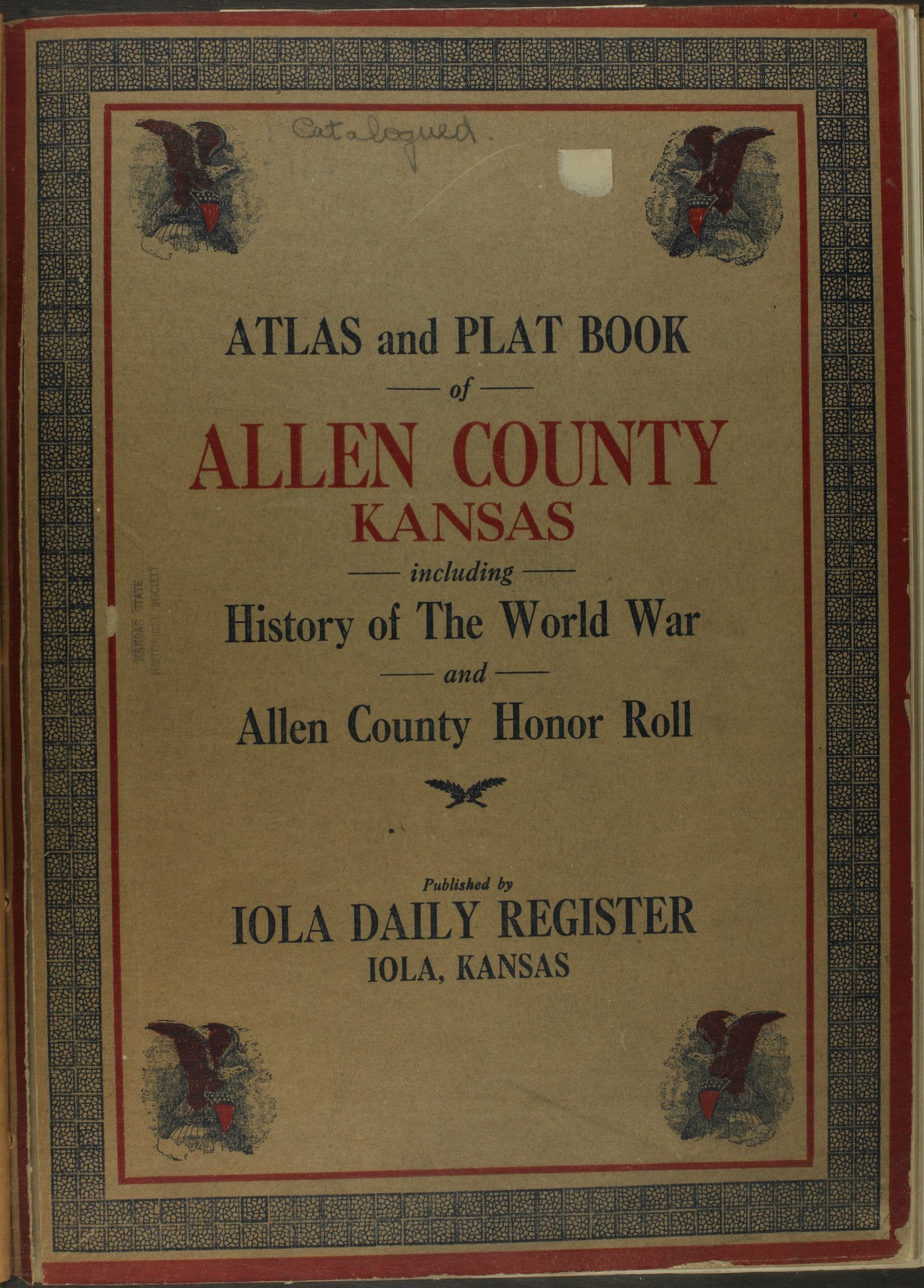 Atlas and plat book of Allen County, Kansas - Title Page