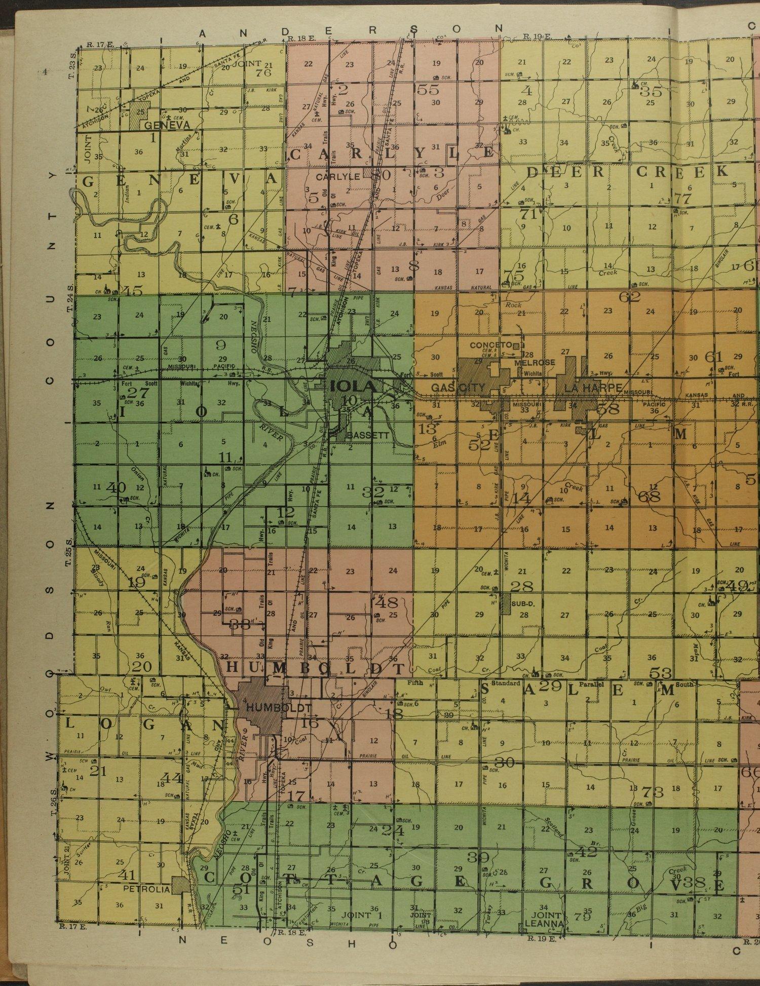 Atlas and plat book of Allen County, Kansas - 4