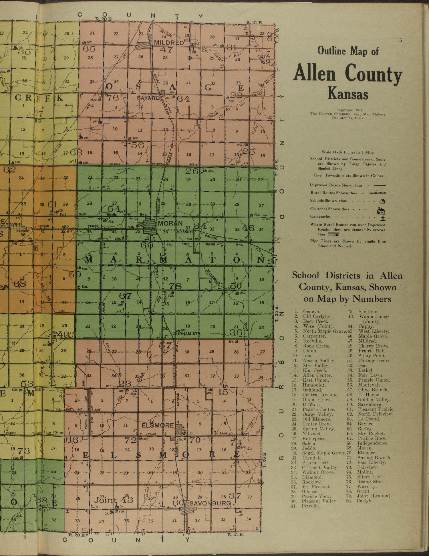Atlas and plat book of Allen County, Kansas - 5