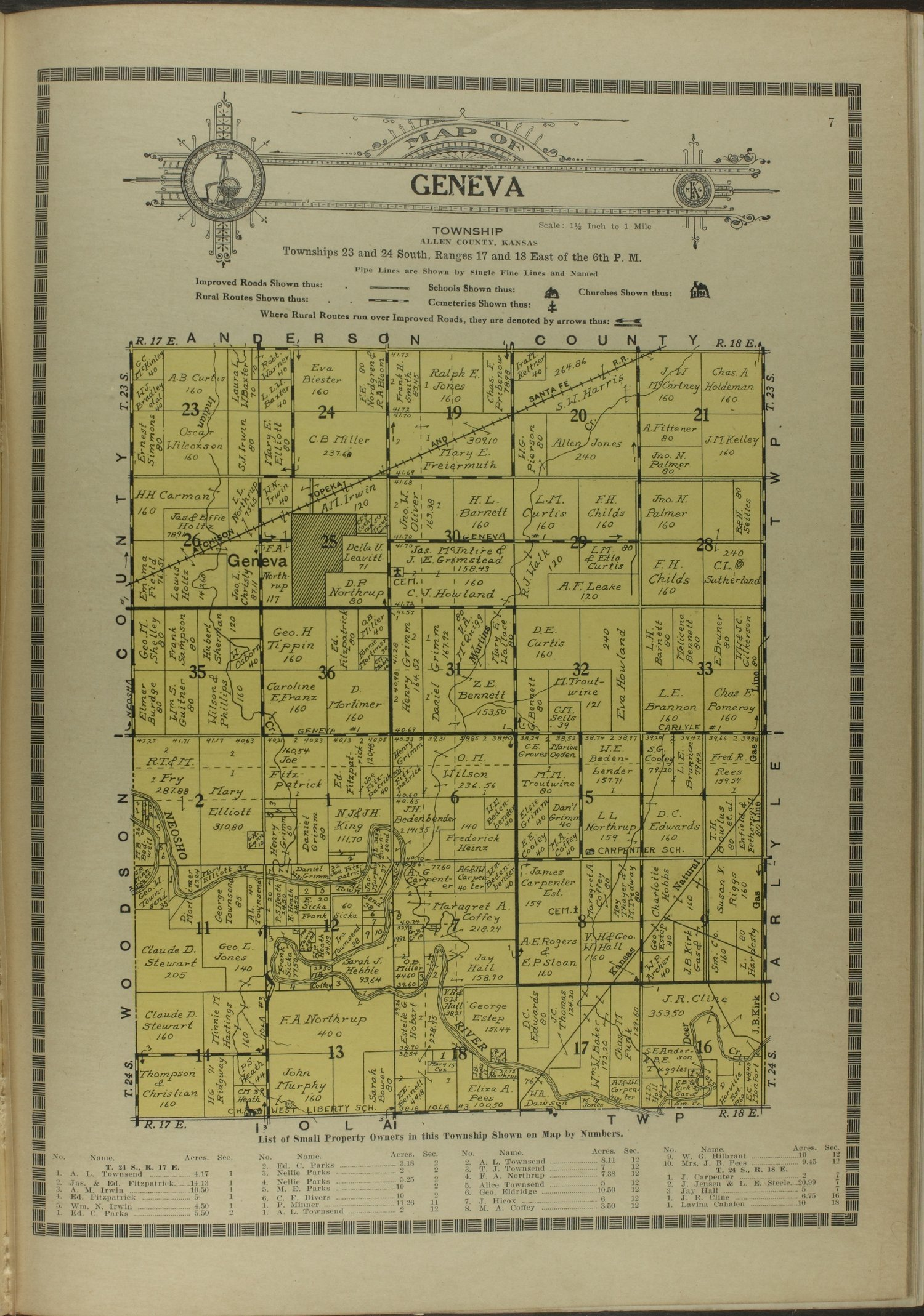 Atlas and plat book of Allen County, Kansas - 7